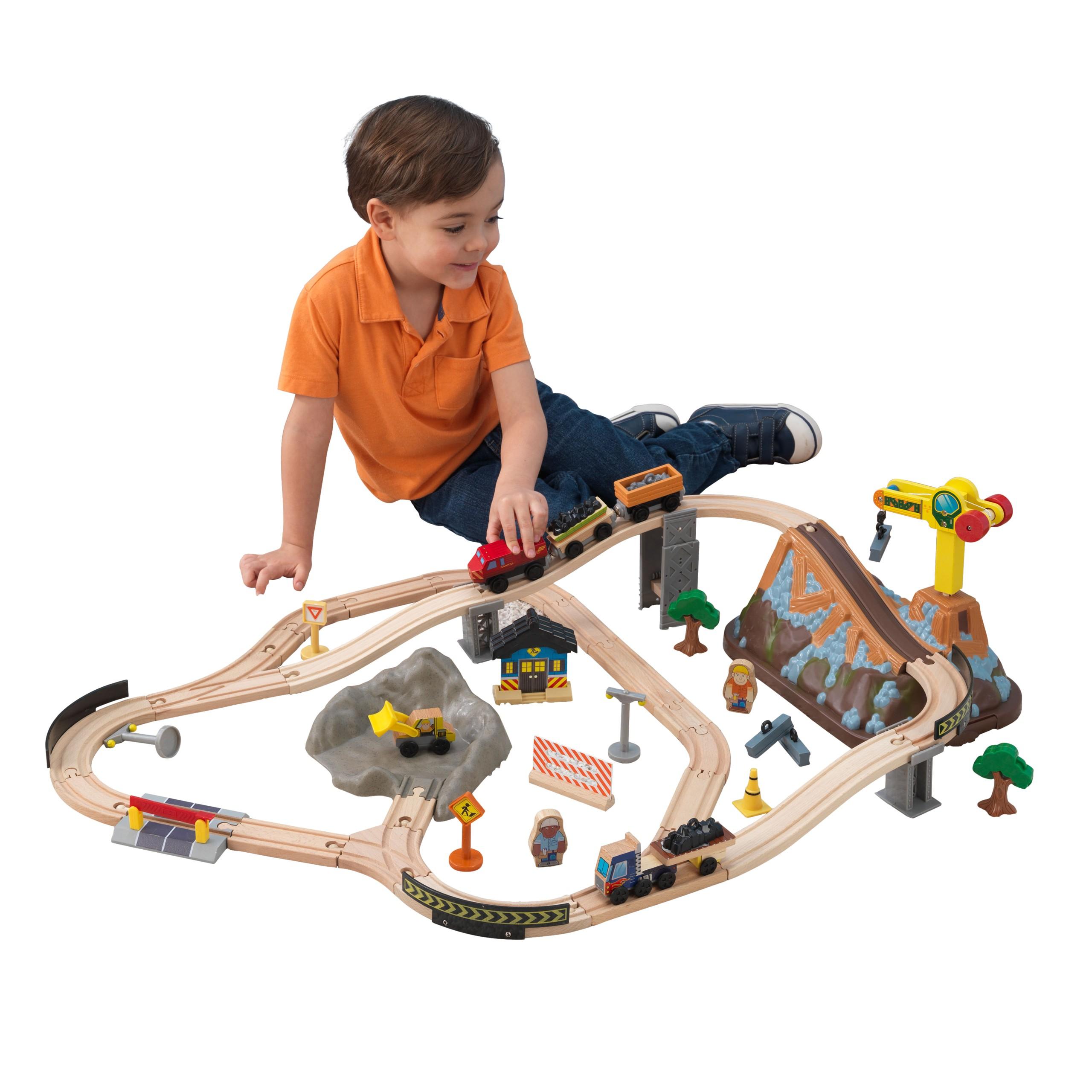 Детски дървен влак- Да копаем в мината от KidKraft-детски играчки за момчета(7)-bellamie