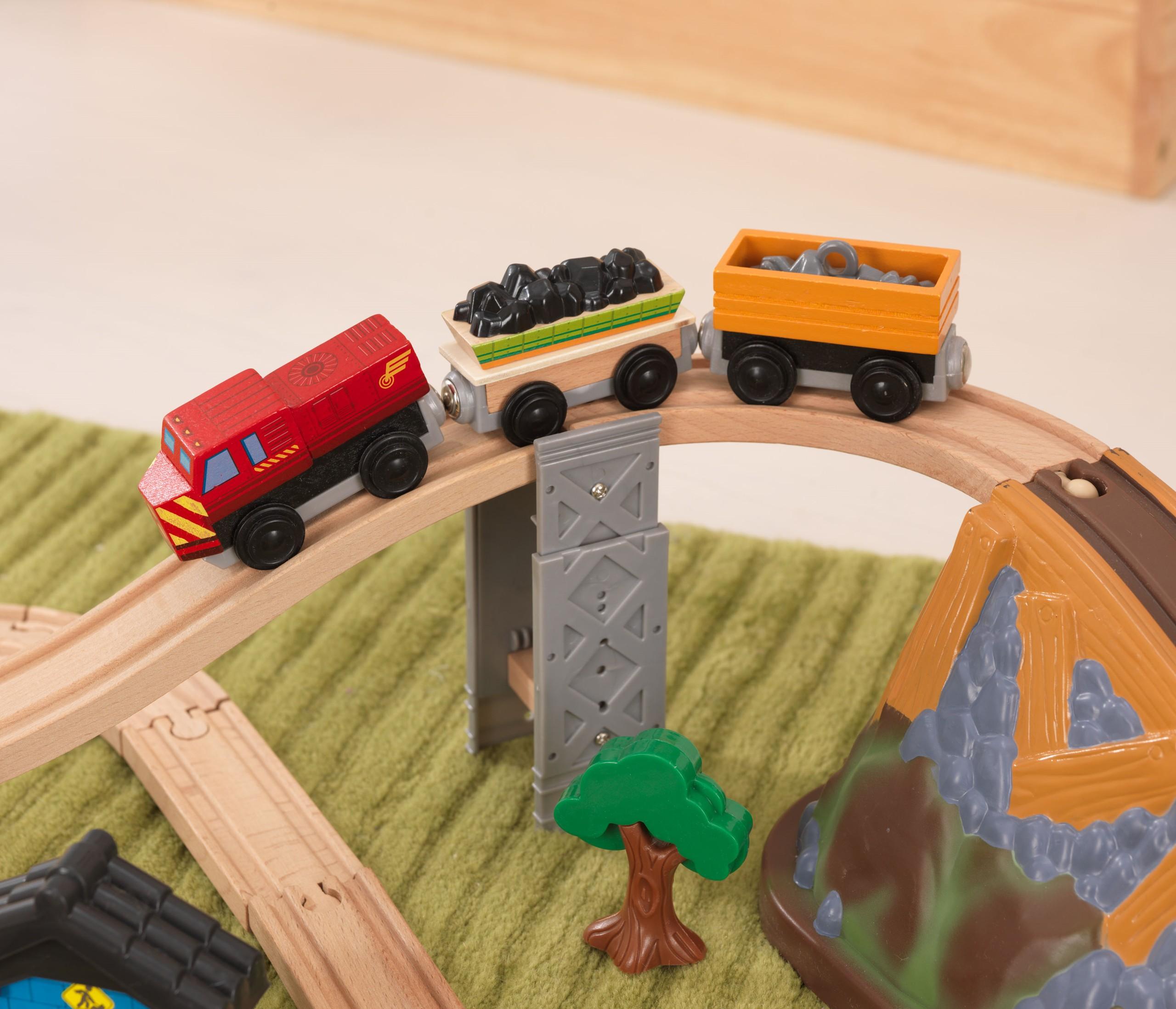 Детски дървен влак- Да копаем в мината от KidKraft-детски играчки за момчета(8)-bellamie