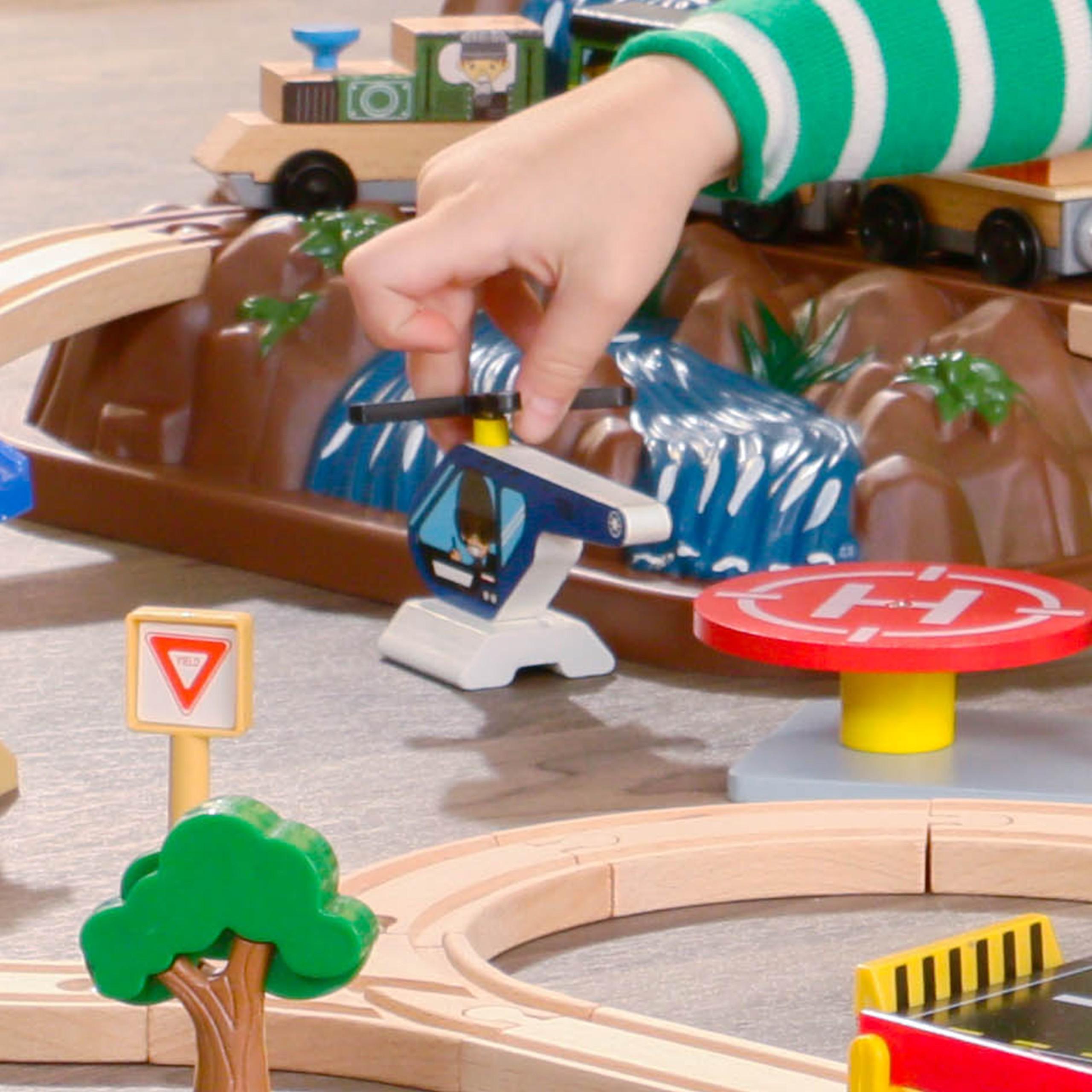 Детски дървен влак - На върха на планината от KidKraft-детски играчки за момчета и момичета(8)-bellamie