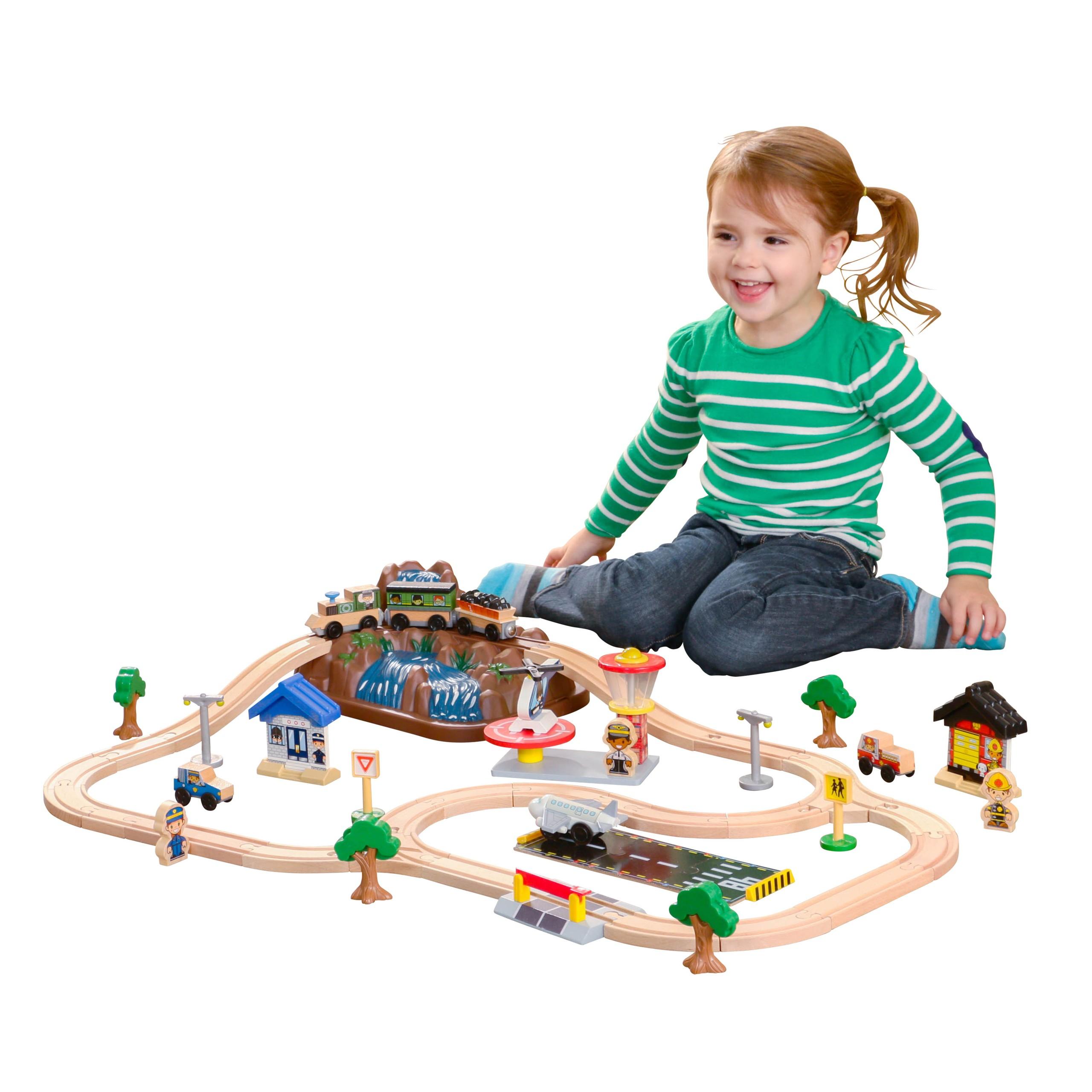 Детски дървен влак - На върха на планината от KidKraft-детски играчки за момчета и момичета-bellamie