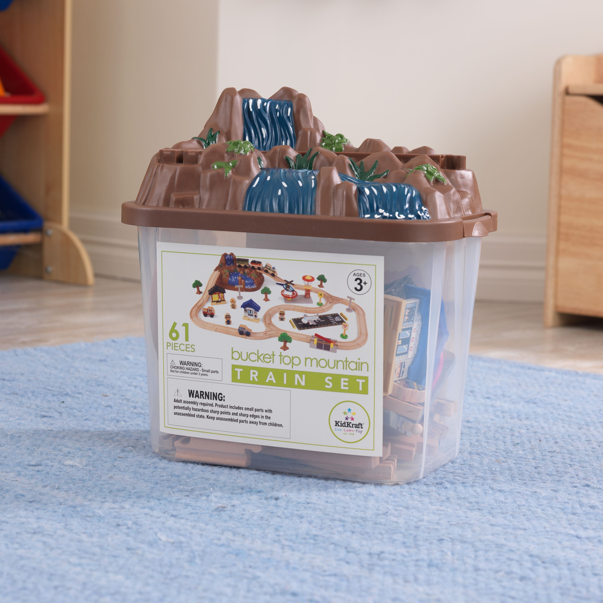 Детски дървен влак - На върха на планината от KidKraft-детски играчки за момчета и момичета(2)-bellamie