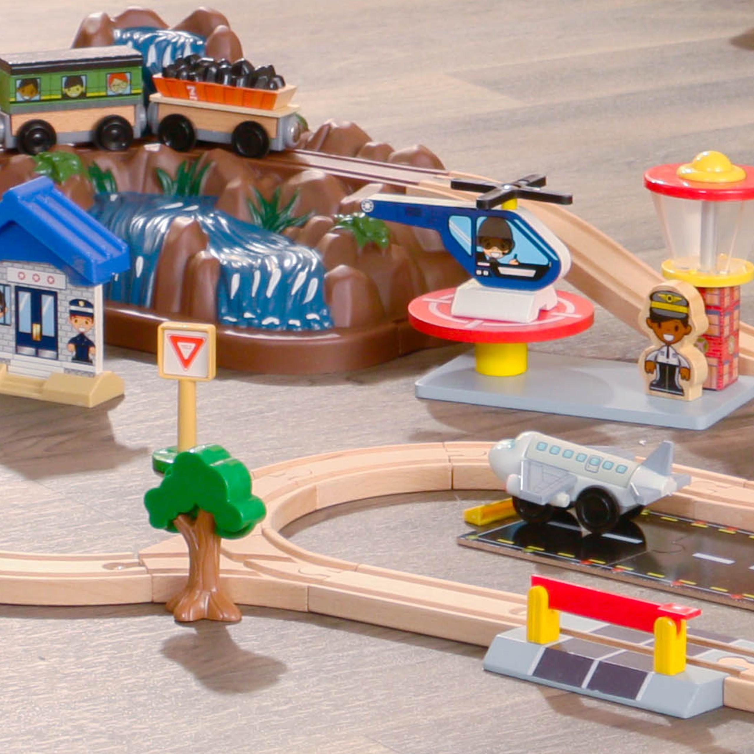 Детски дървен влак - На върха на планината от KidKraft-детски играчки за момчета и момичета(3)-bellamie