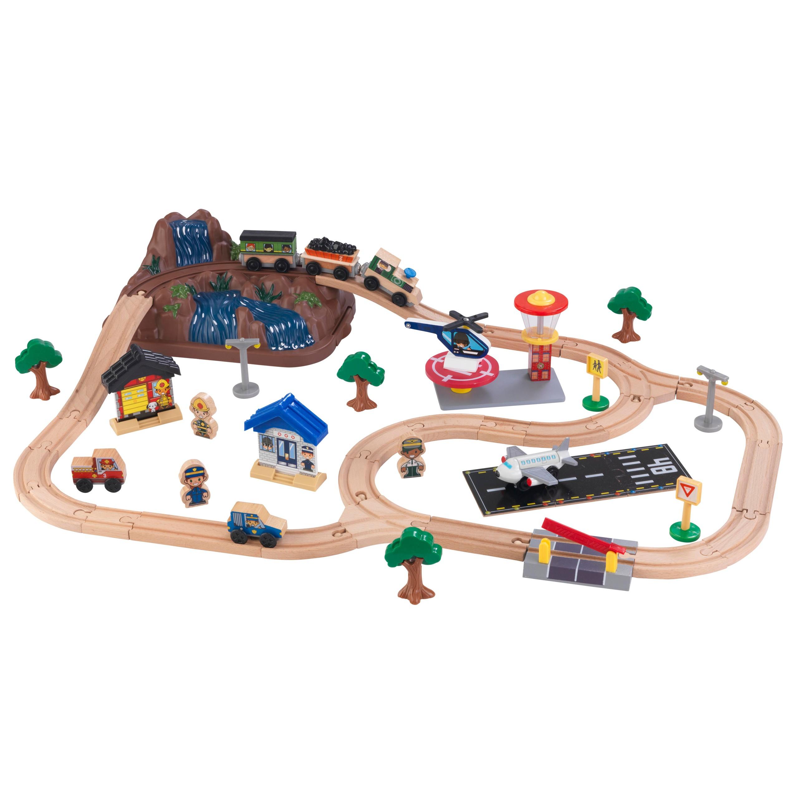 Детски дървен влак - На върха на планината от KidKraft-детски играчки за момчета и момичета(7)-bellamie