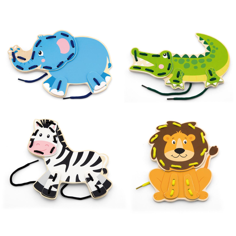 Комплект Дивите животни на връзки-образователни играчки-bellamie