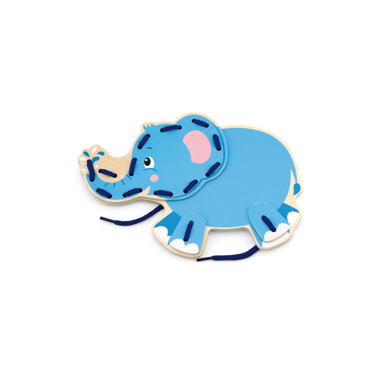 Слон от Комплект Дивите животни на връзки-образователни играчки-bellamie