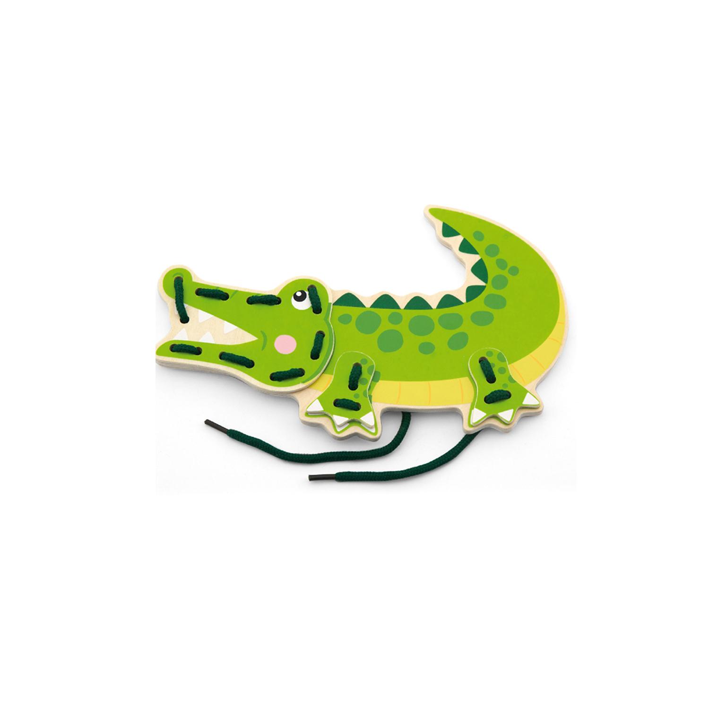 Крокодил от Комплект Дивите животни на връзки-образователни играчки-bellamie