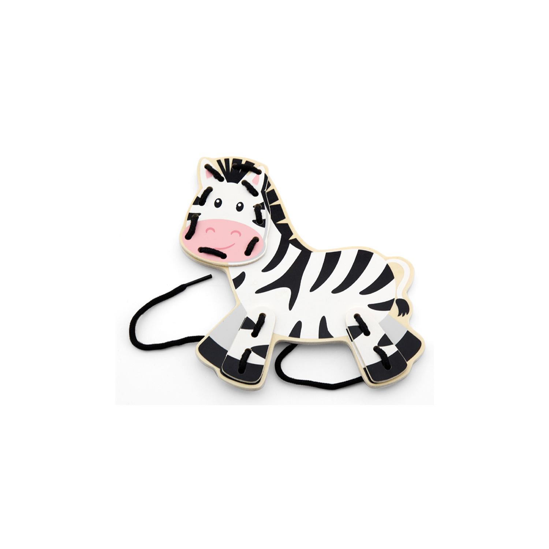 Зебра от Комплект Дивите животни на връзки-образователни играчки-bellamie