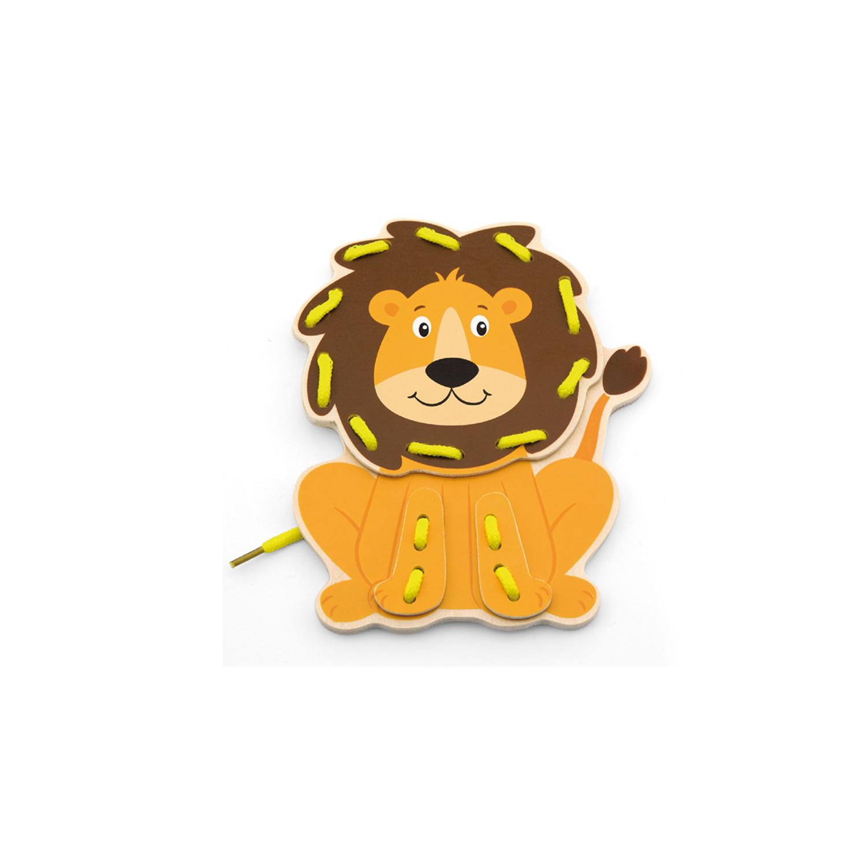 Лъв от Комплект Дивите животни на връзки-образователни играчки-bellamie