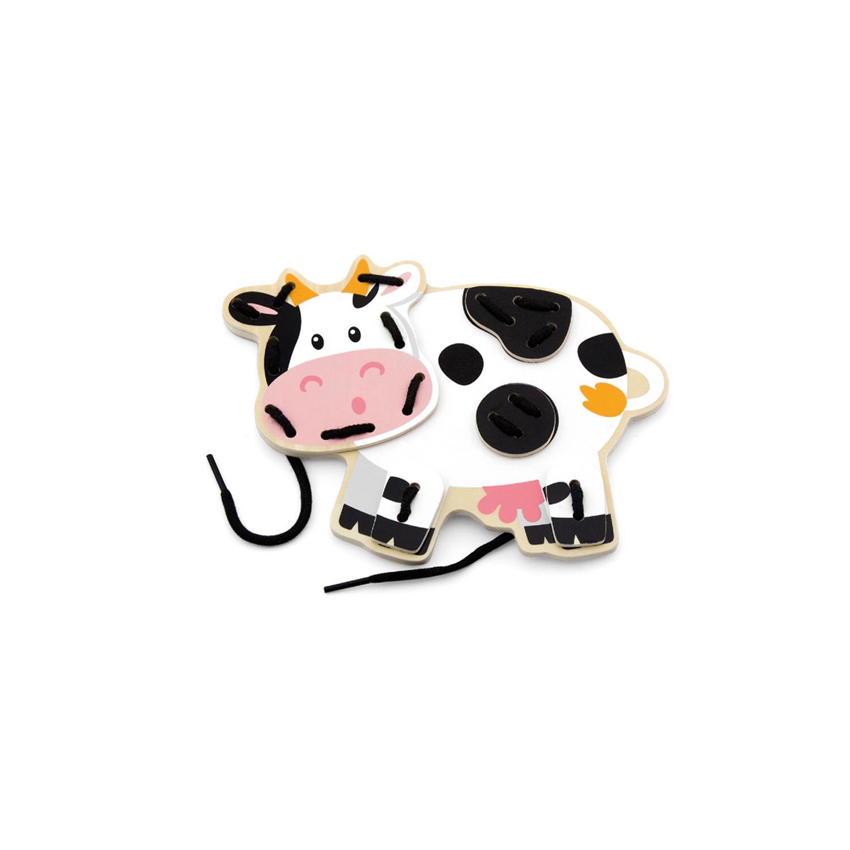 Крава от комплекта Животните от Фермата на връзки-образователни играчки-bellamie