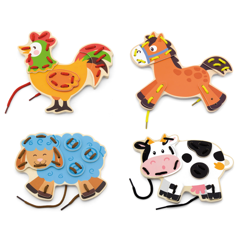 Животните от Фермата на връзки-образователни играчки-bellamie