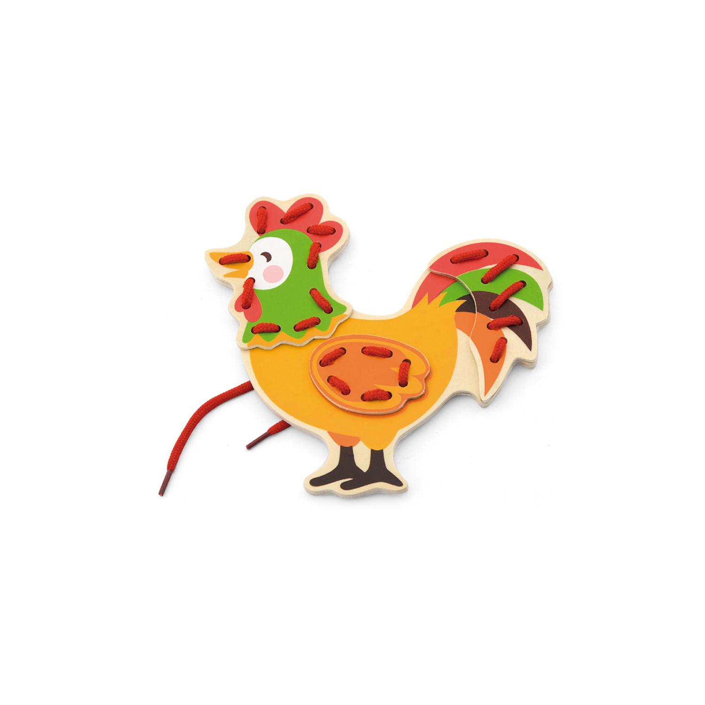 Петел от комплекта Животните от Фермата на връзки-образователни играчки-bellamie