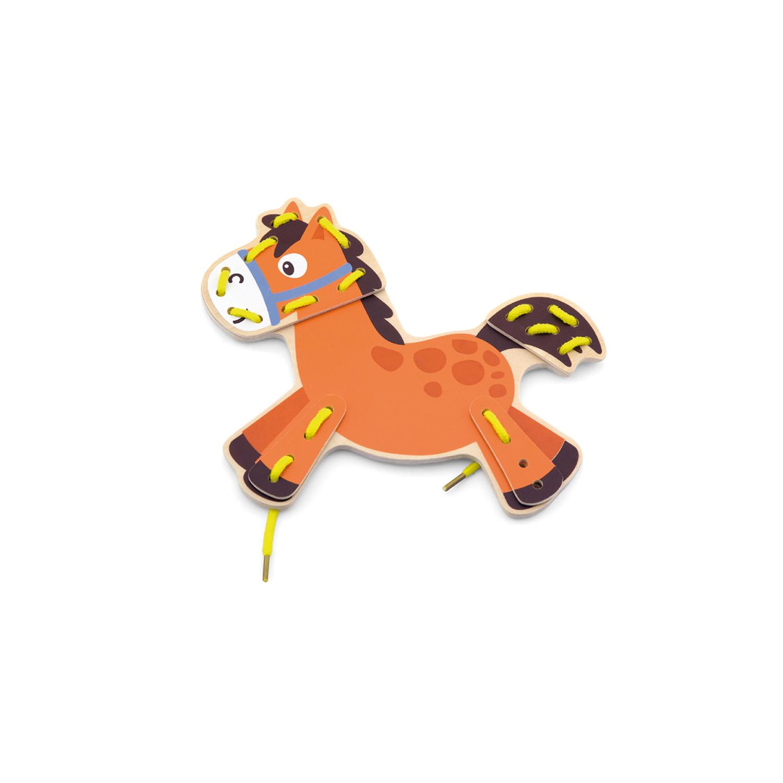 Кон от комплекта Животните от Фермата на връзки-образователни играчки-bellamie