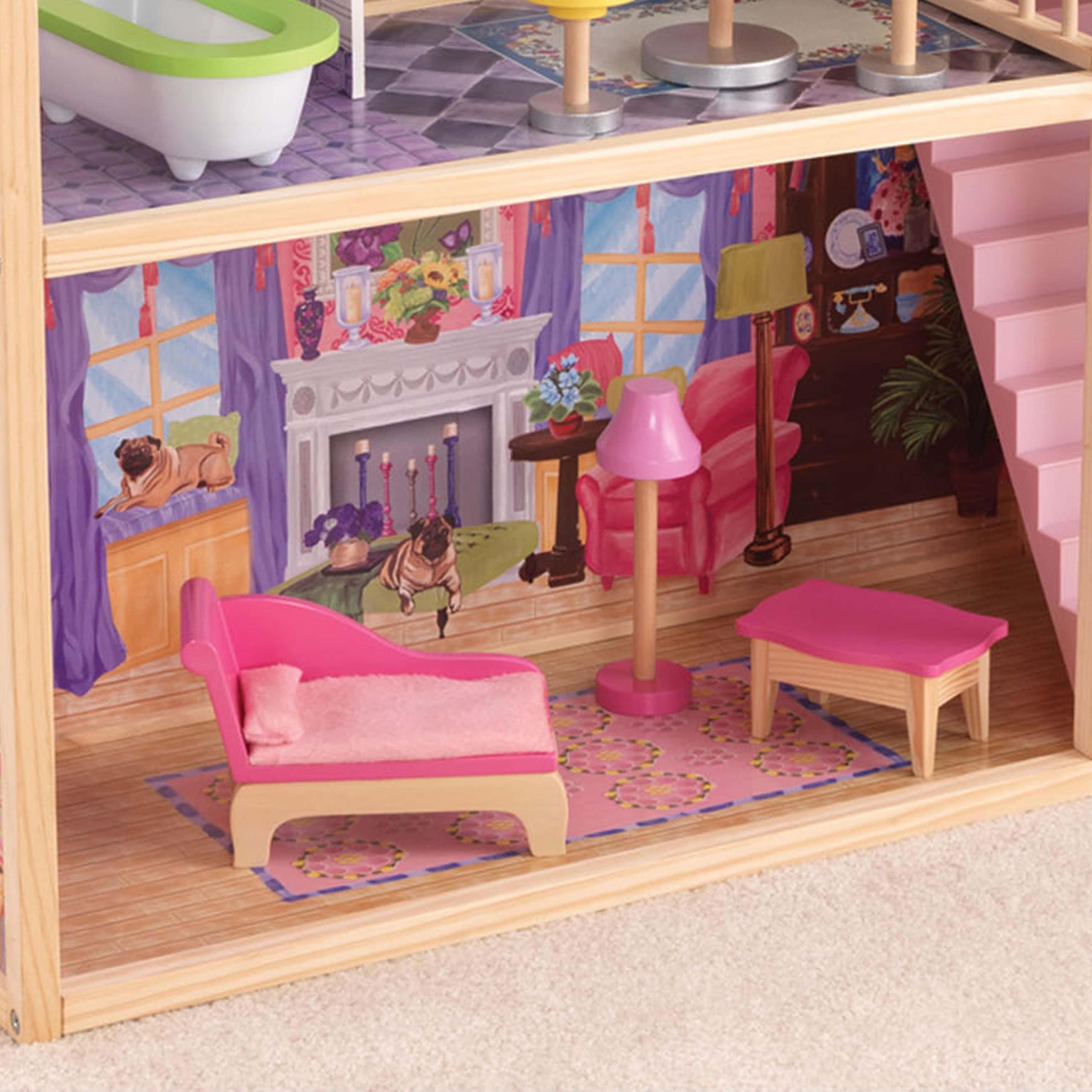 Къща за кукли от дърво – Кайла - Kidkraft дървени къщи за кукли(8)-bellamiestore