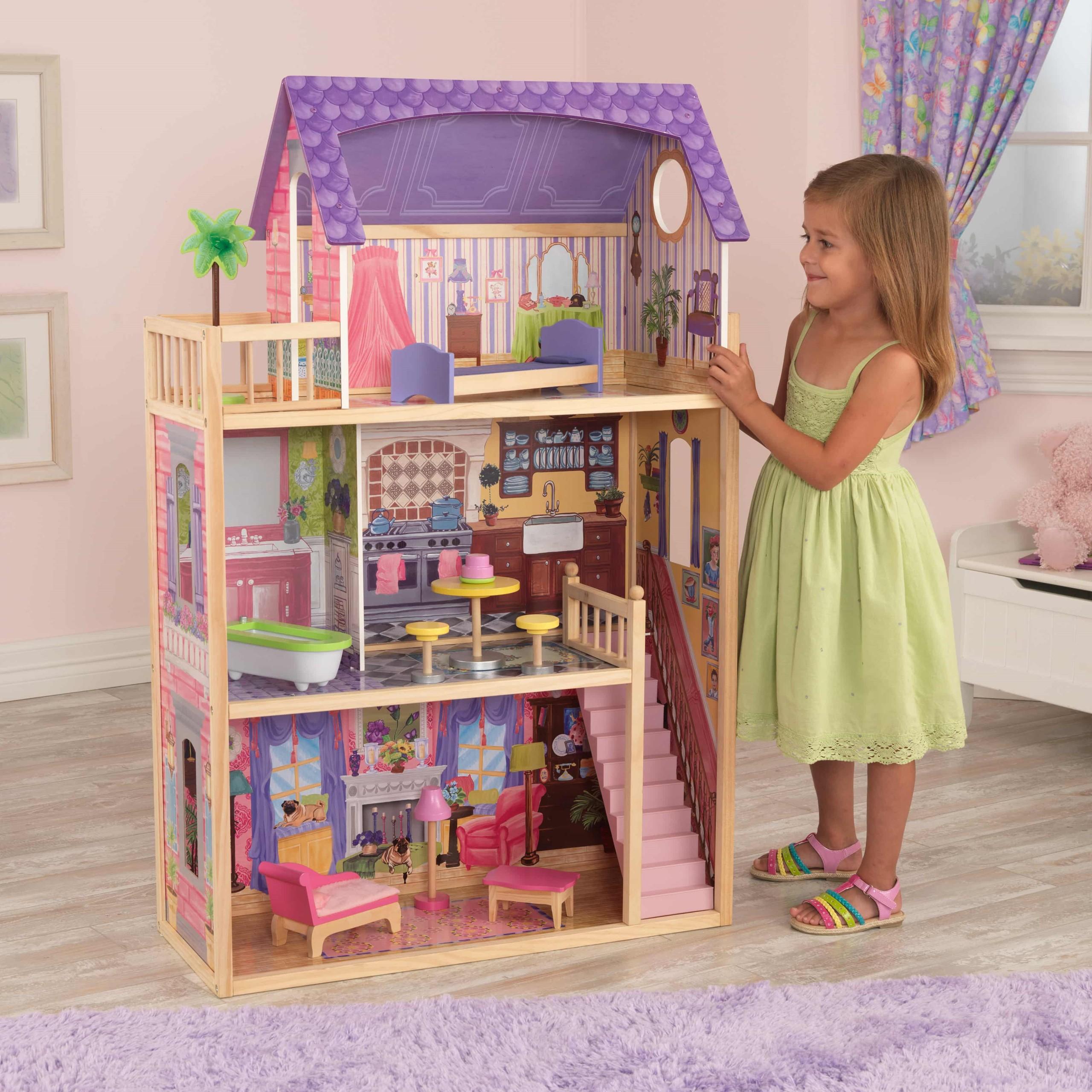 Къща за кукли от дърво – Кайла - Kidkraft дървени къщи за кукли(1)-bellamiestore