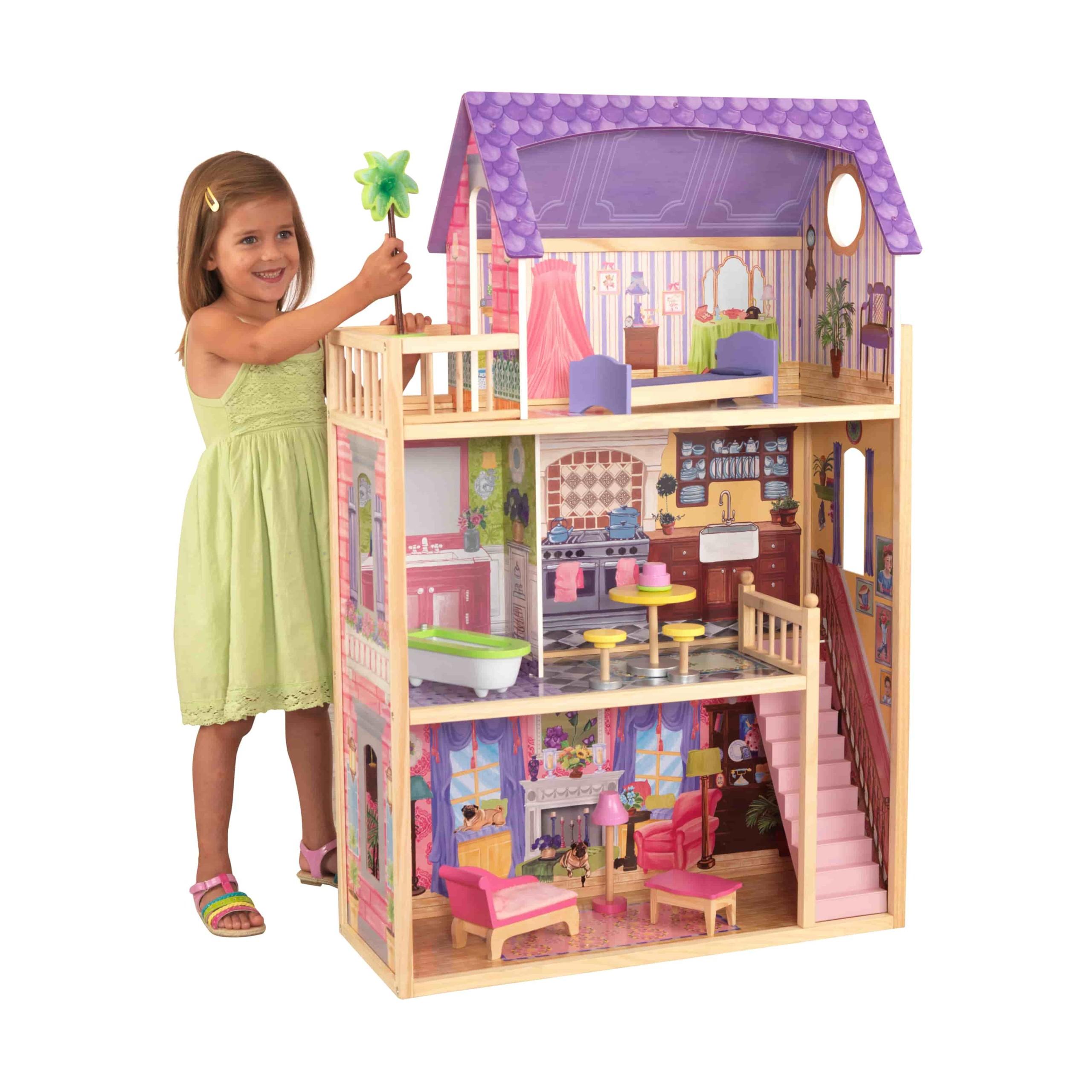 Къща за кукли от дърво – Кайла - Kidkraft дървени къщи за кукли(2)-bellamiestore