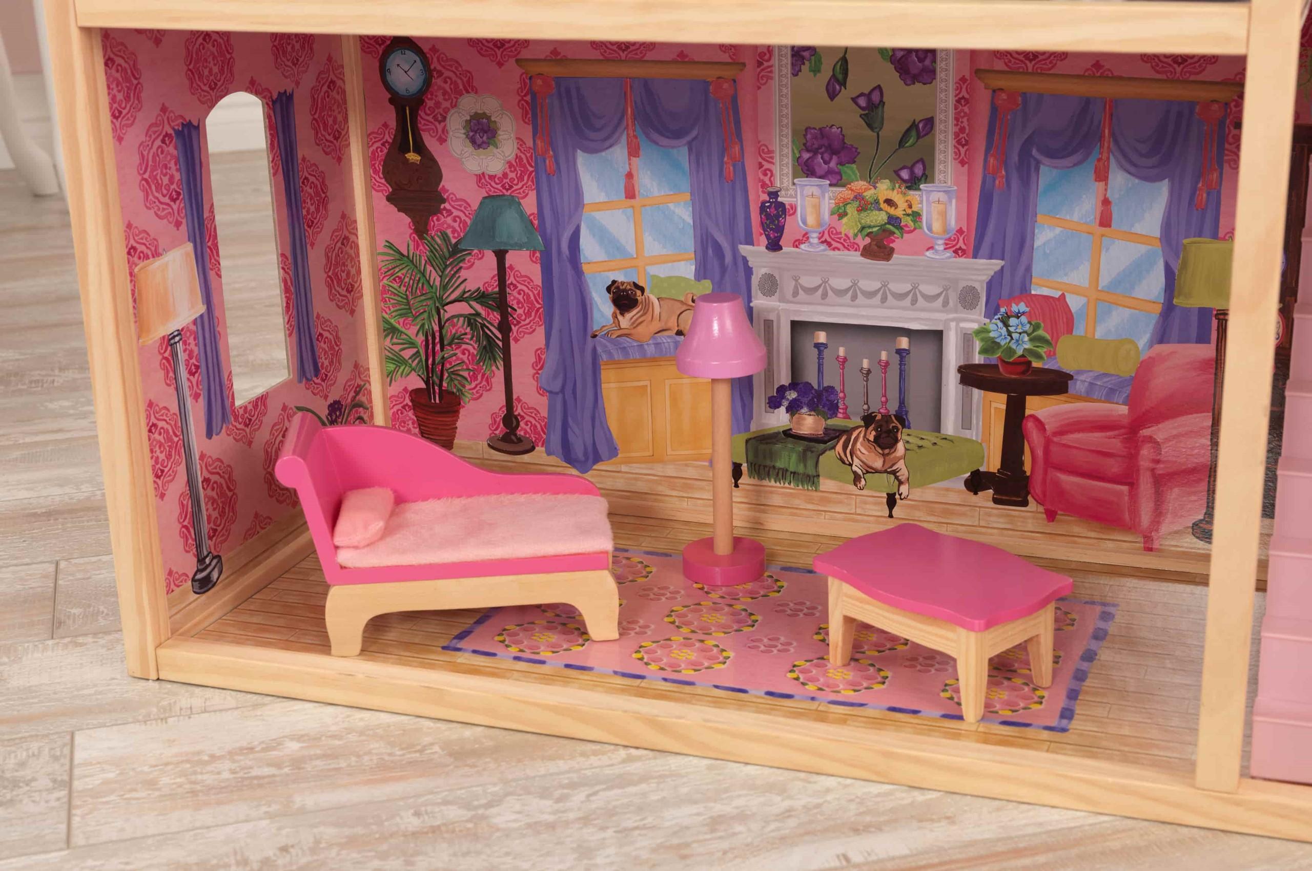 Къща за кукли от дърво – Кайла - Kidkraft дървени къщи за кукли(7)-bellamiestore