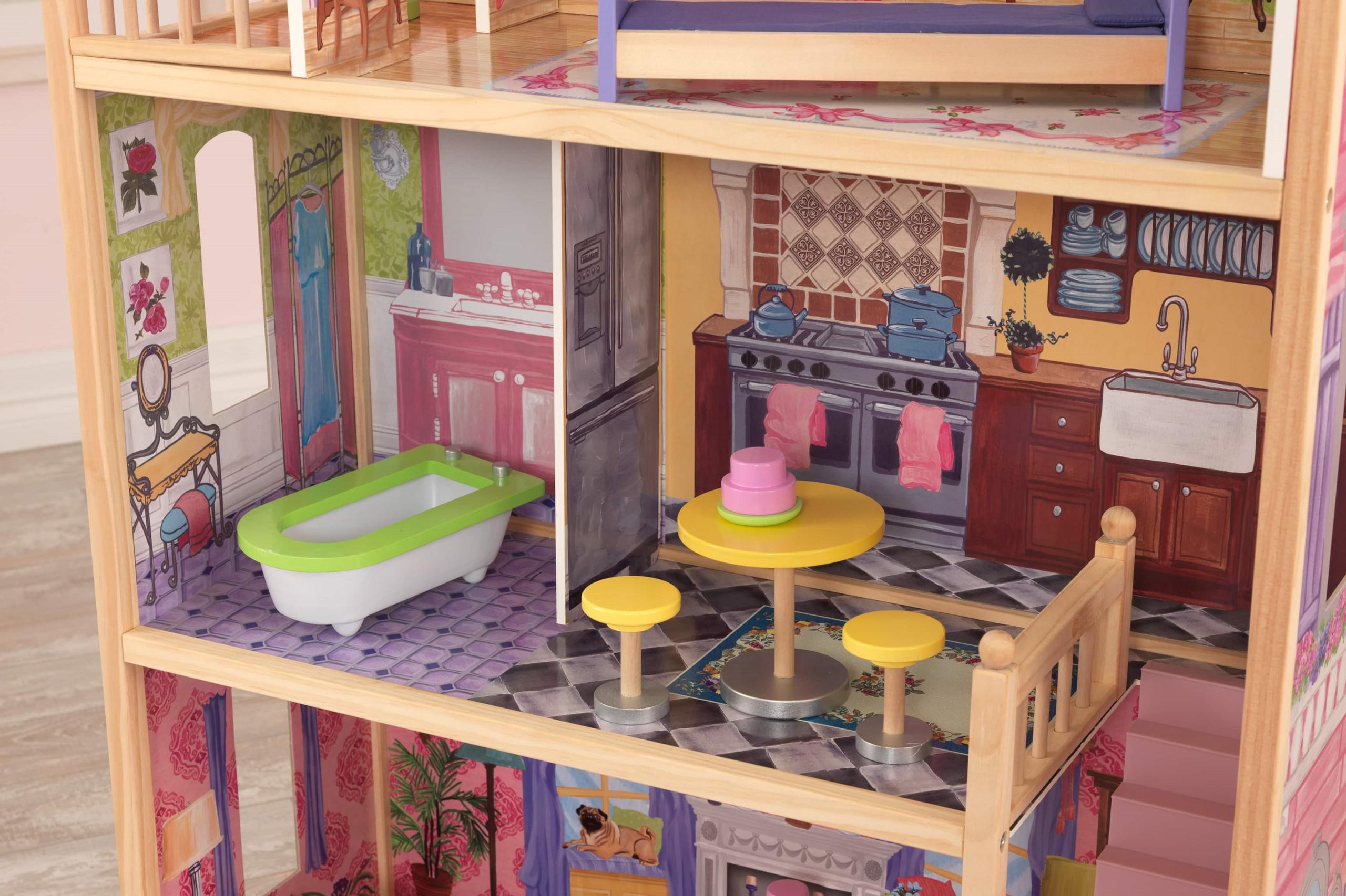 Къща за кукли от дърво – Кайла - Kidkraft дървени къщи за кукли(5)-bellamiestore