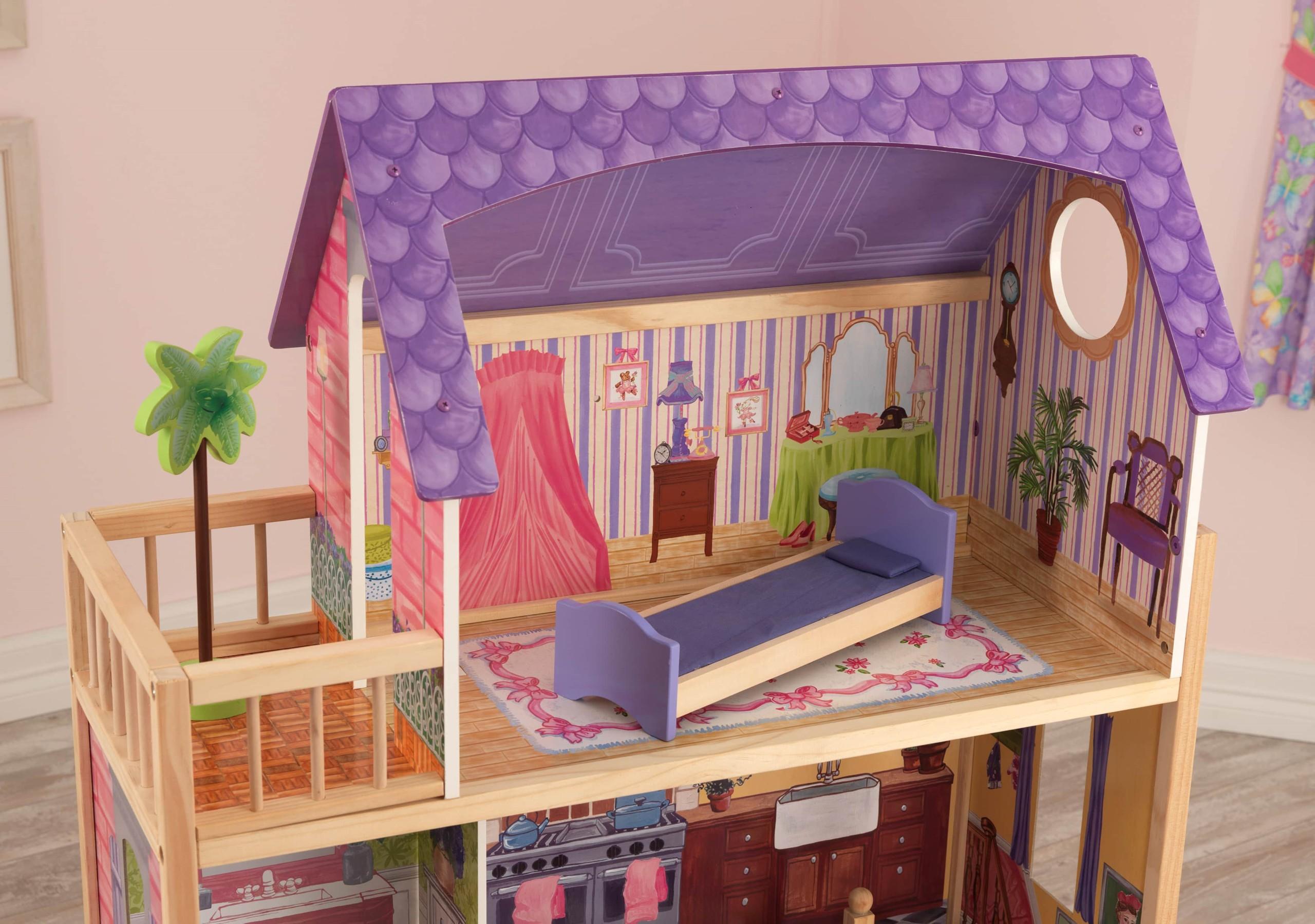 Къща за кукли от дърво – Кайла - Kidkraft дървени къщи за кукли(4)-bellamiestore