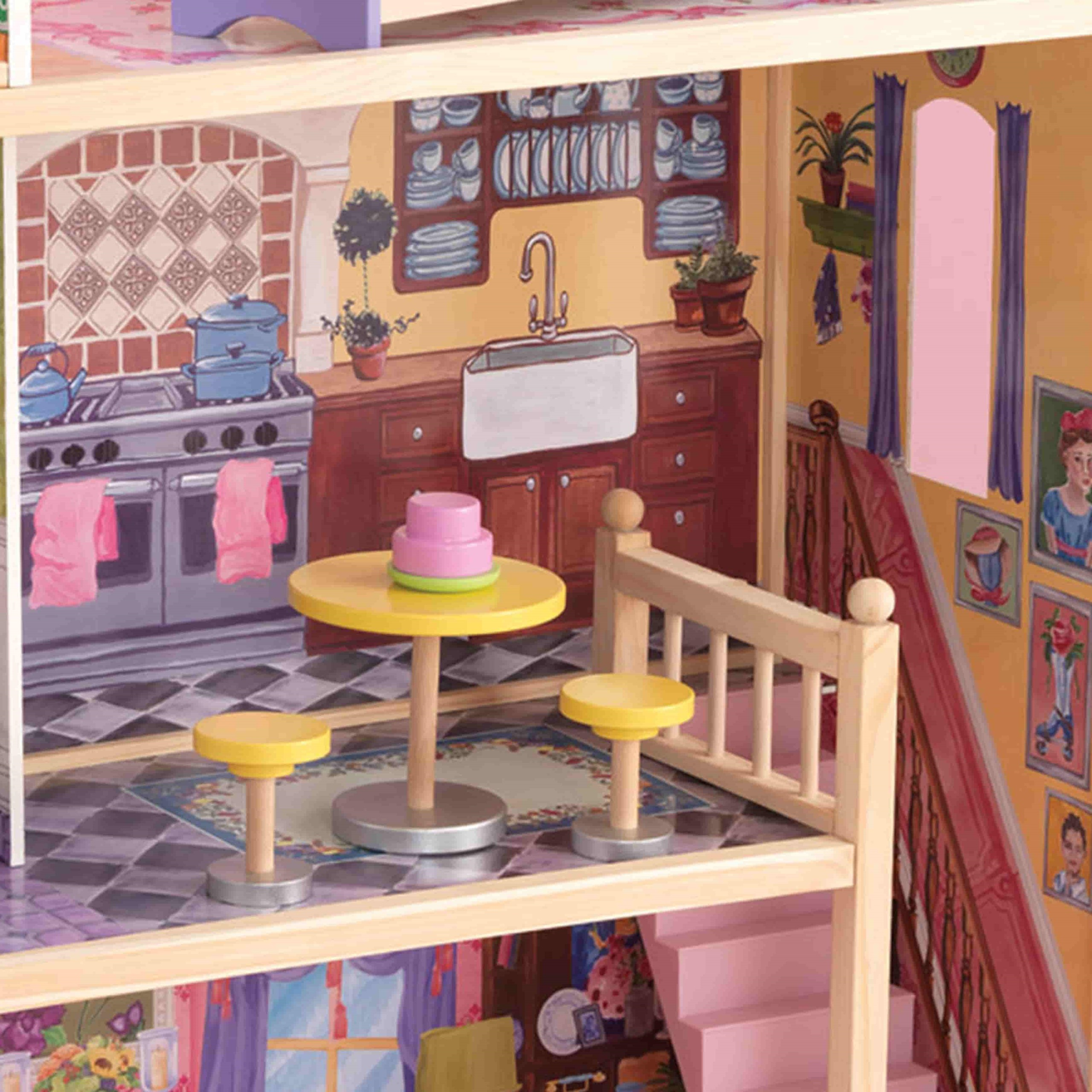 Къща за кукли от дърво – Кайла - Kidkraft дървени къщи за кукли(6)-bellamiestore