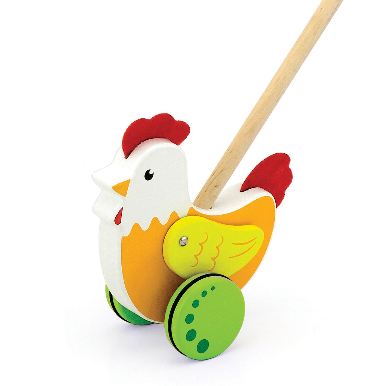 Дървена буталка Петел- дървени проходилки и буталки от Viga toys(1)-bellamiestore