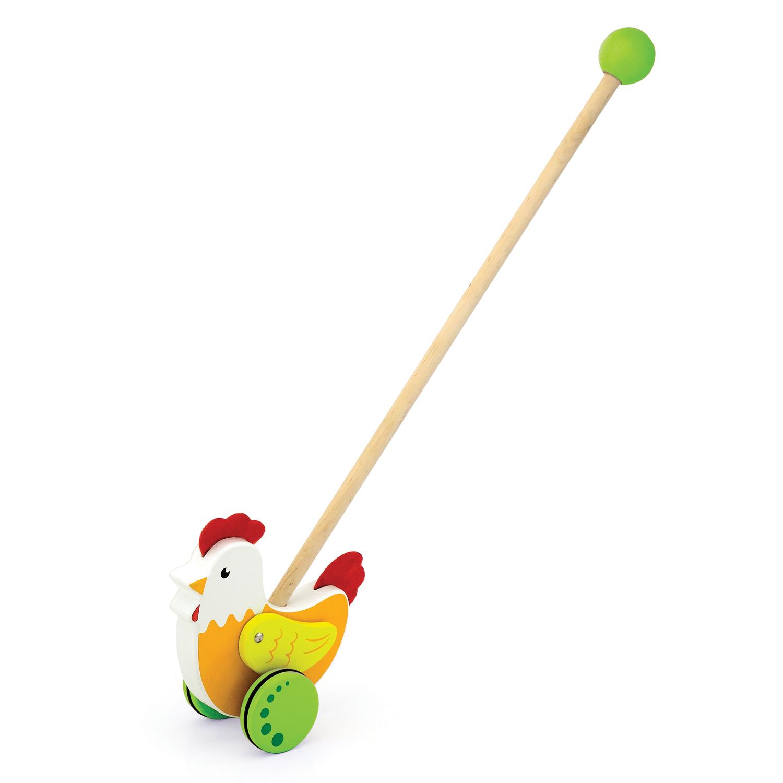 Дървена буталка Петел- дървени проходилки и буталки от Viga toys-bellamiestore