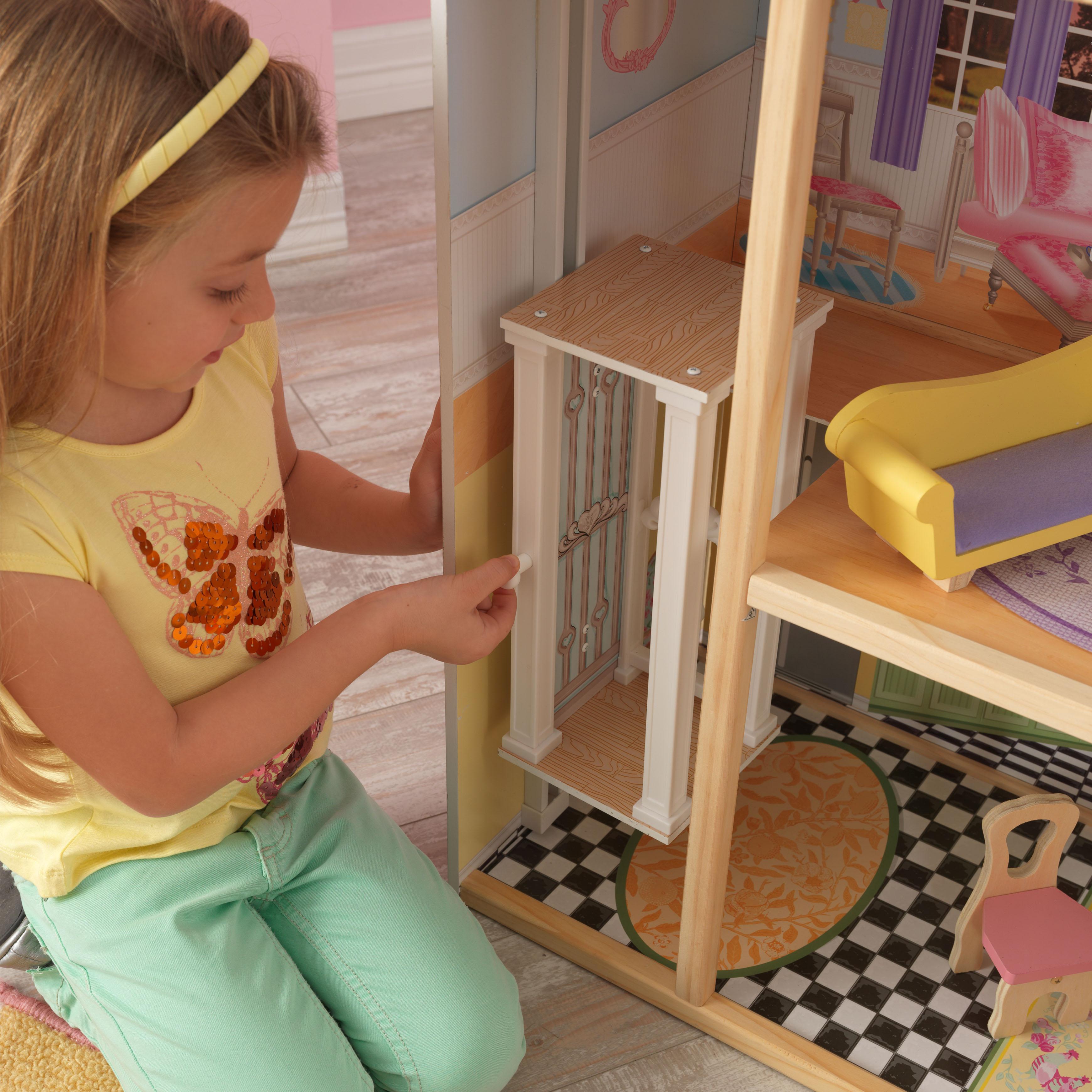 Дървена куклена къща Кайли от KidKraft - детска играчка за момичета - Bellamie