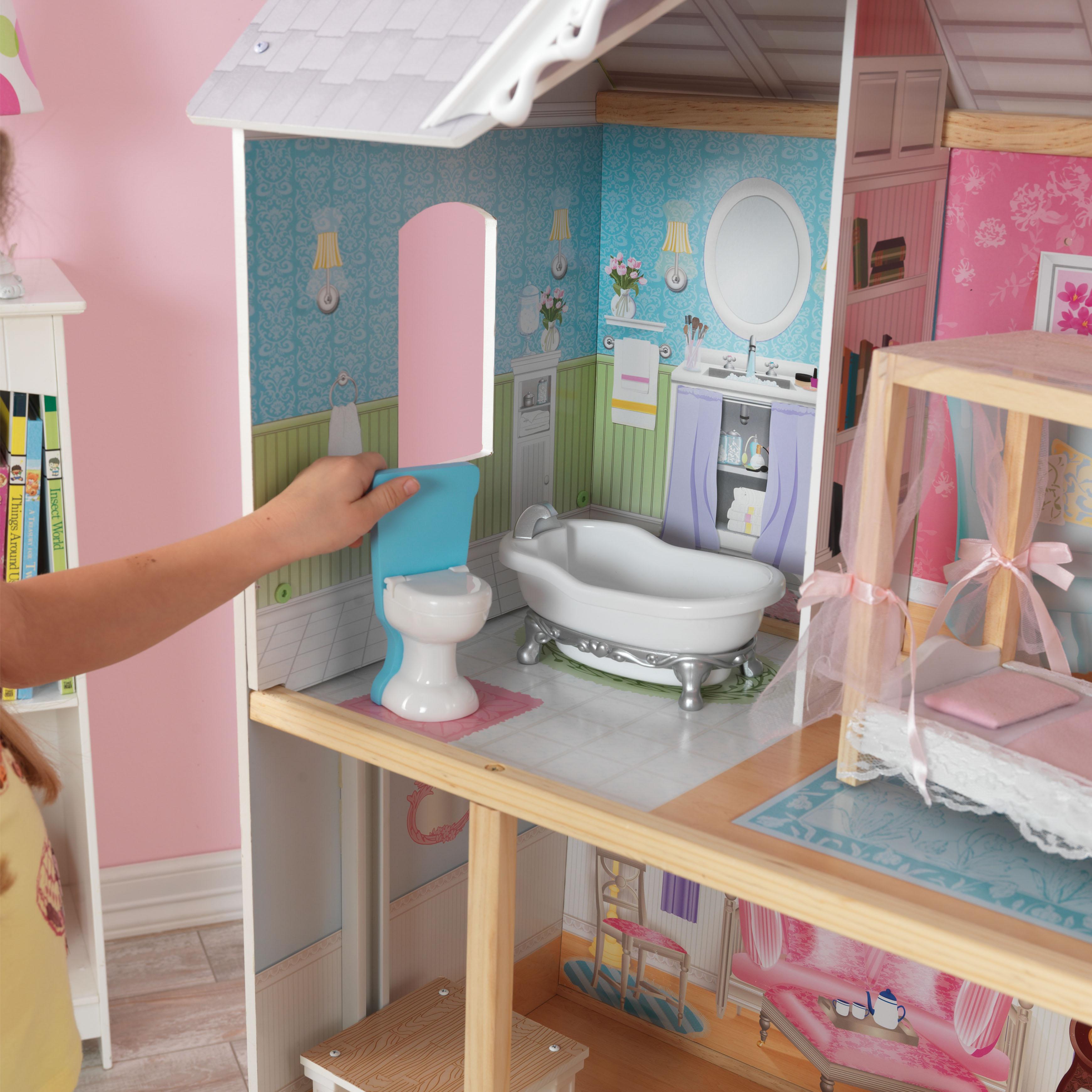 Дървена куклена къща Кайли от KidKraft - детска играчка за момичета - Беллами