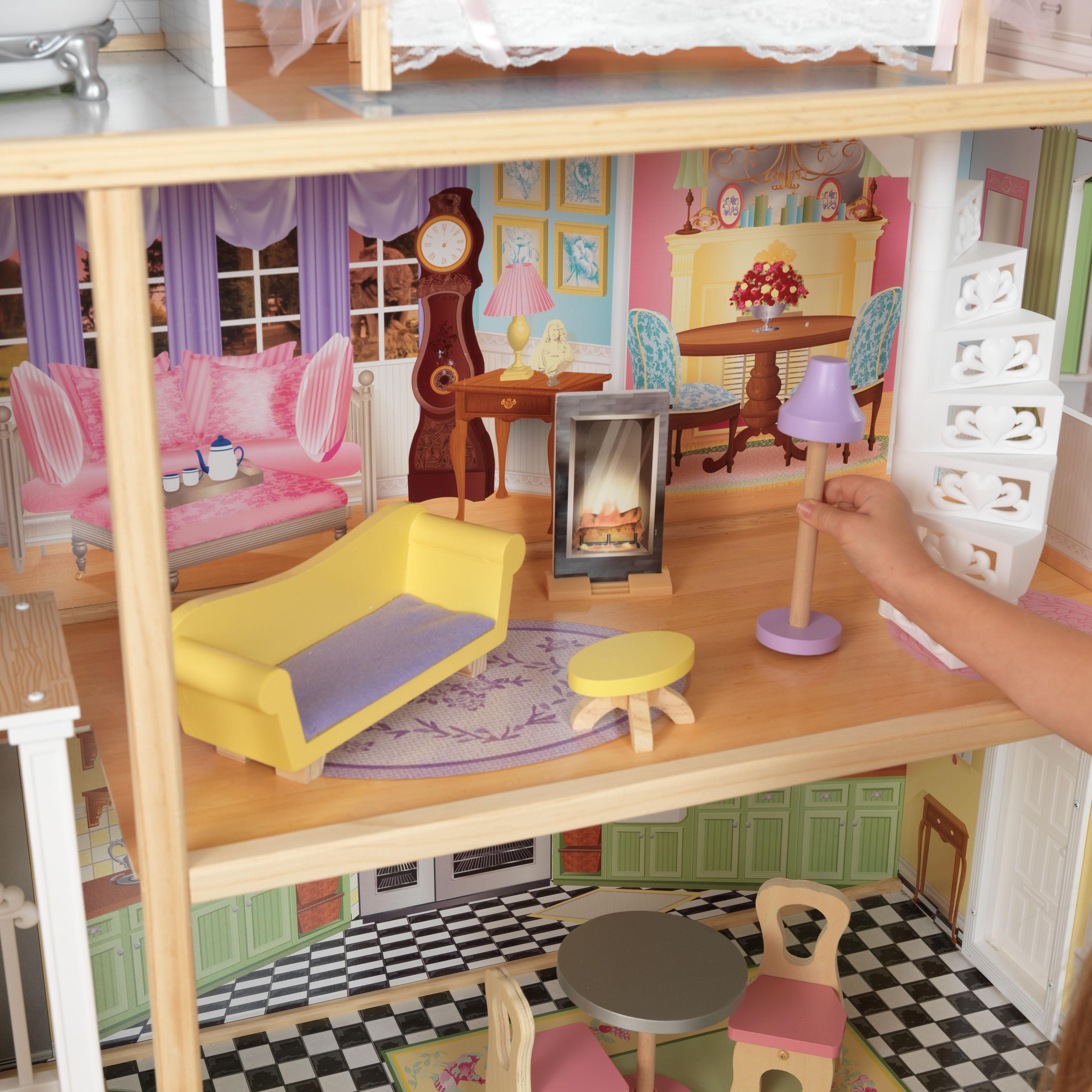 Дървена куклена къща Кайли от KidKraft – детска играчка за момичета