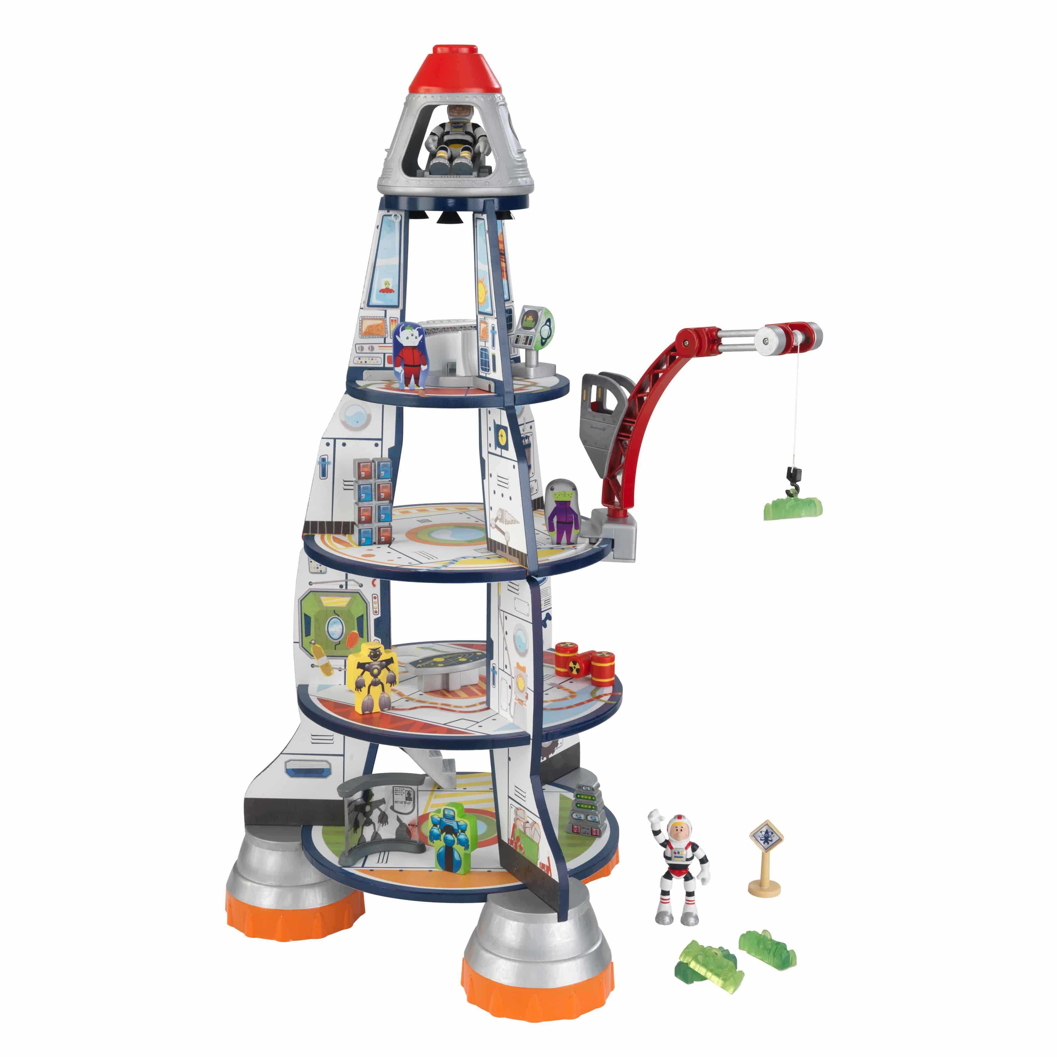KidKraft - дървена играчка за момчета - Космическа ракета(5)-bellamie