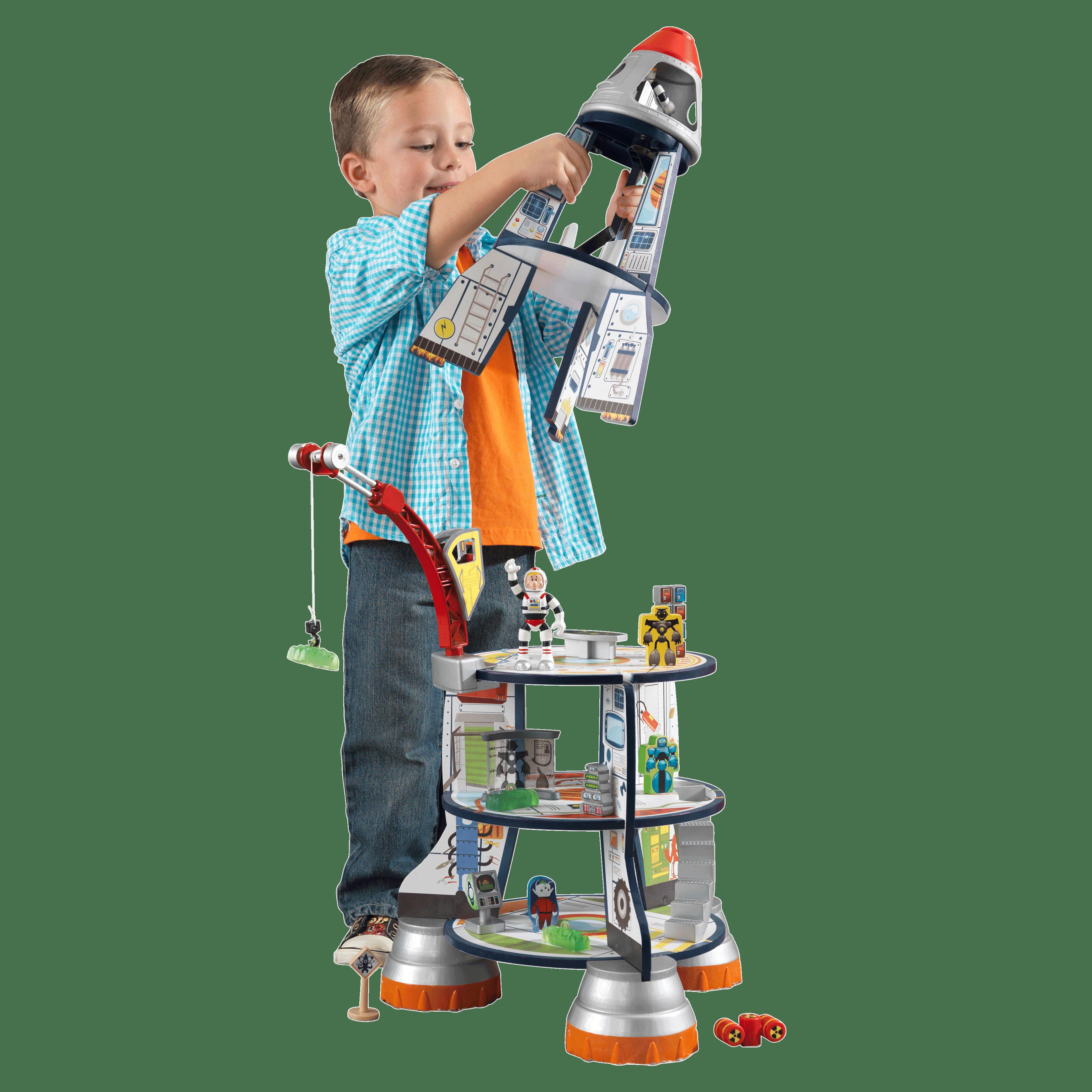 KidKraft - дървена играчка за момчета - Космическа ракета(2)-bellamie