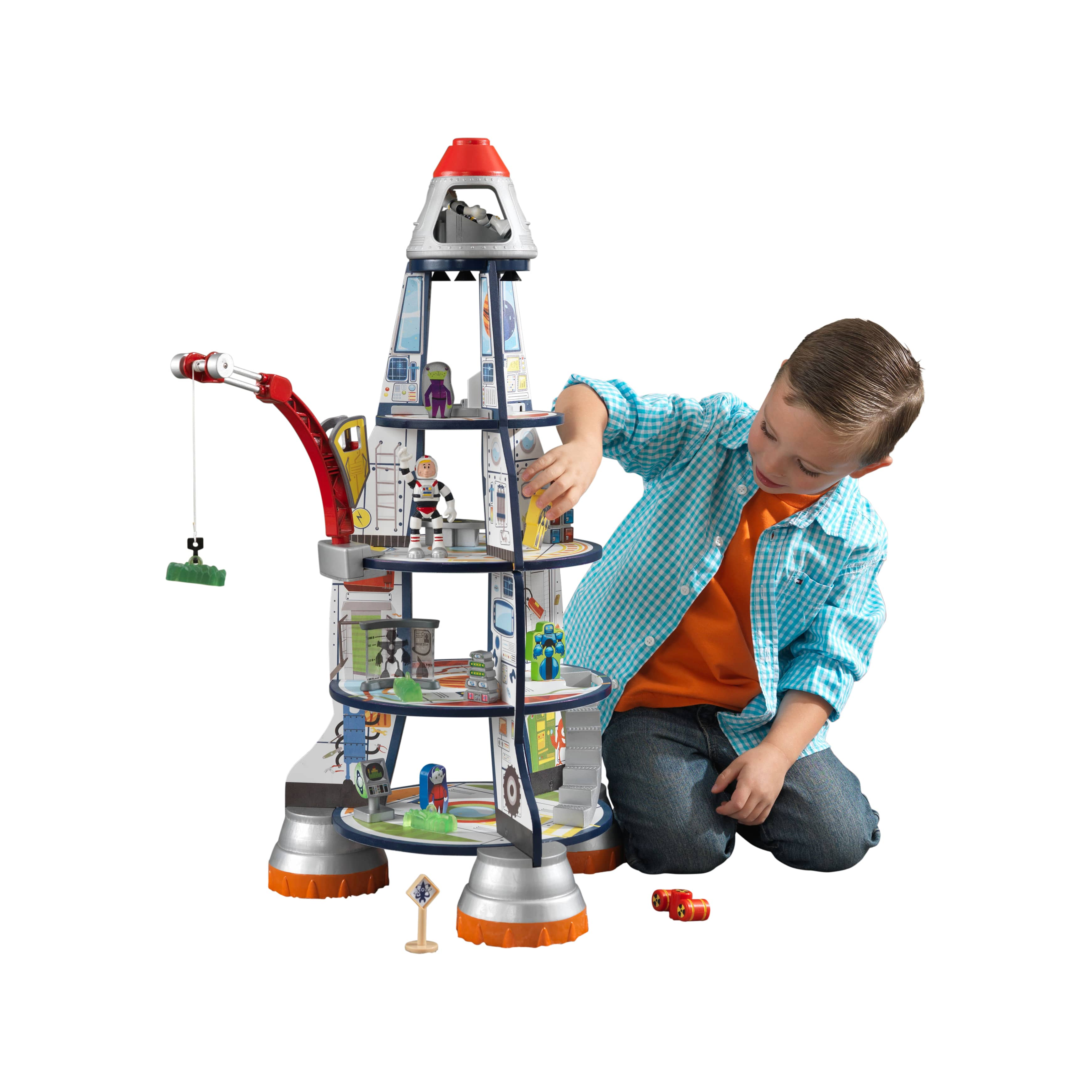 KidKraft - дървена играчка за момчета - Космическа ракета(1)-bellamie