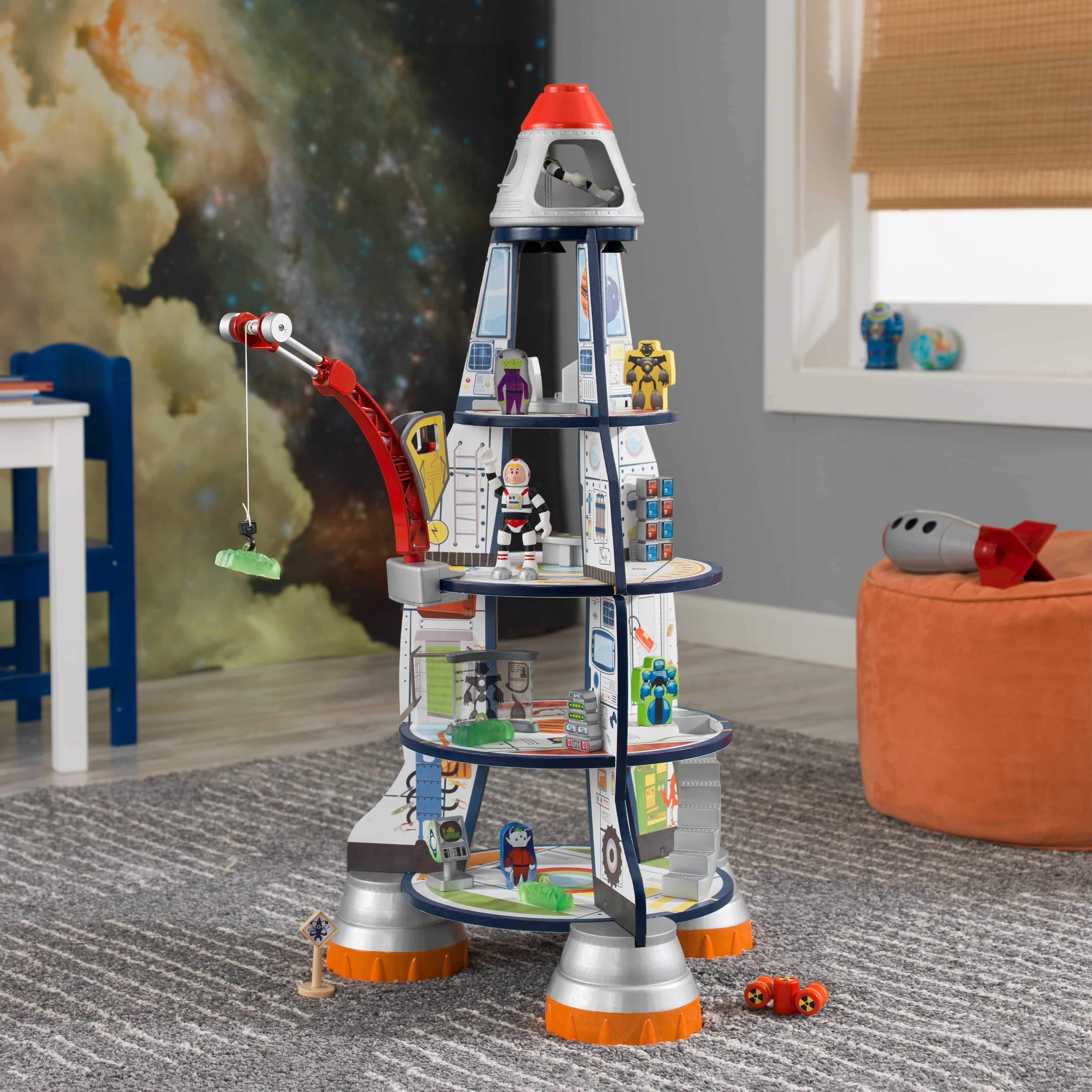 KidKraft - дървена играчка за момчета - Космическа ракета - Магазин Bellamie