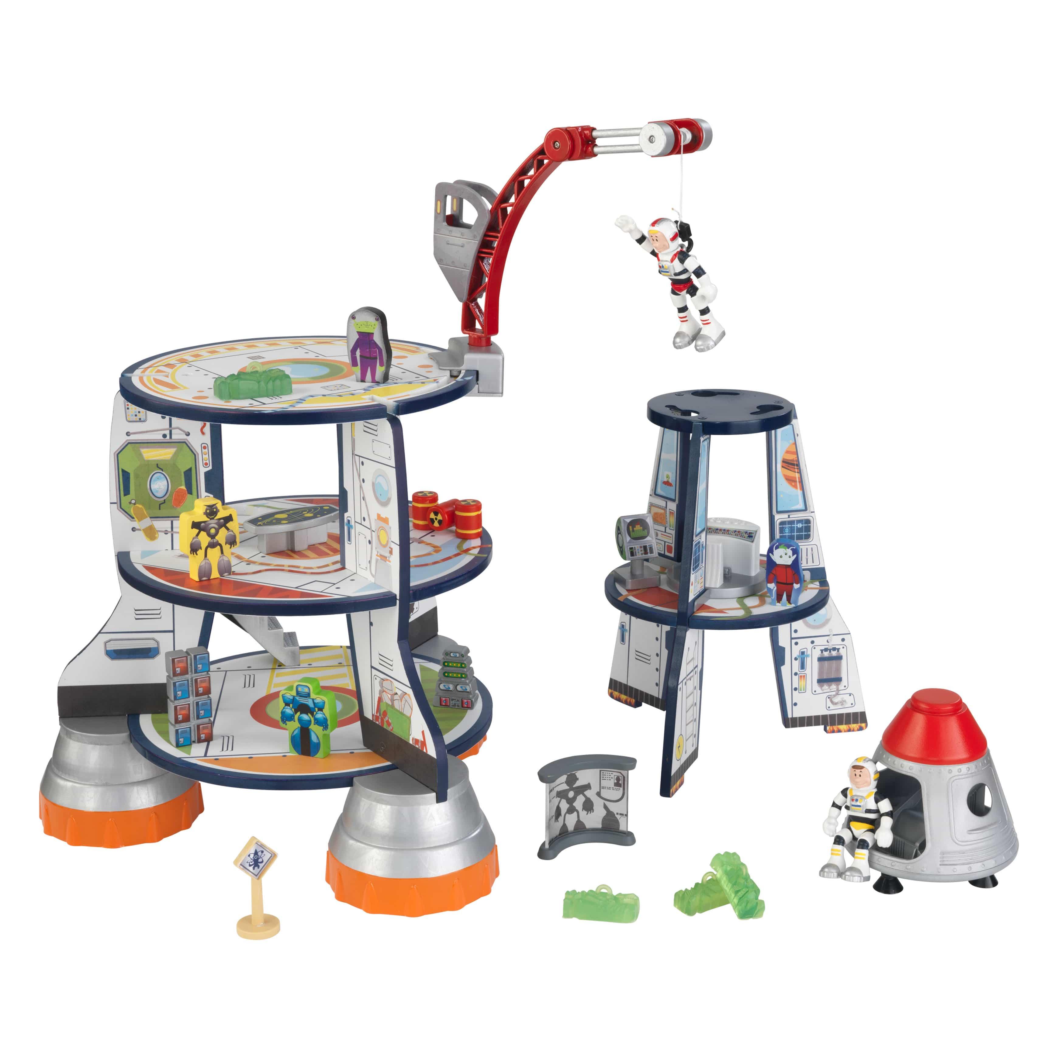 KidKraft - дървена играчка за момчета - Космическа ракета(3)-bellamie