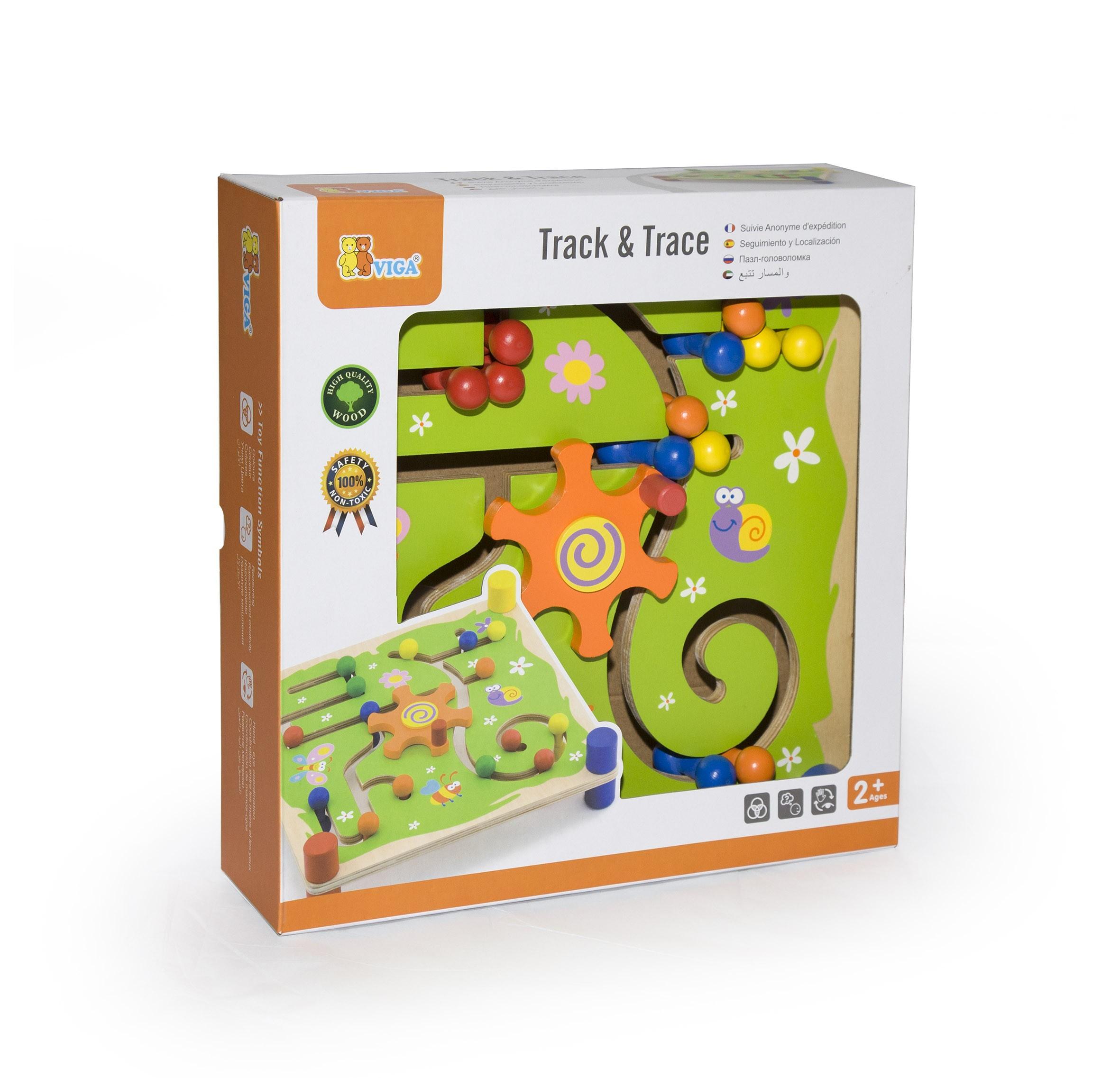 Образователна игра за проследяване - Трак- дървени образователни играчки от Viga toys-bellamiestore