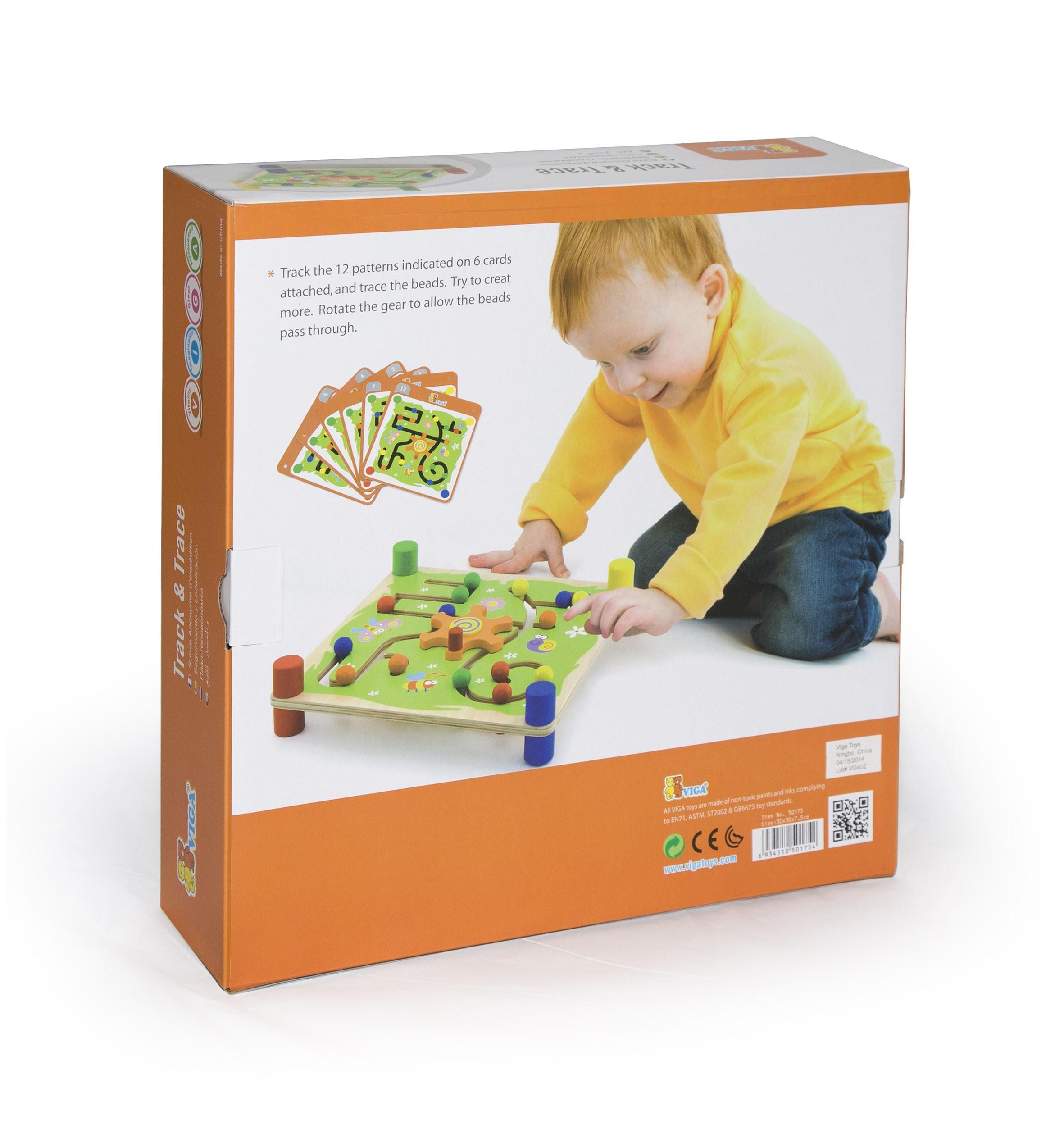 Образователна игра за проследяване - Трак- дървени образователни играчки от Viga toys(1)-bellamiestore