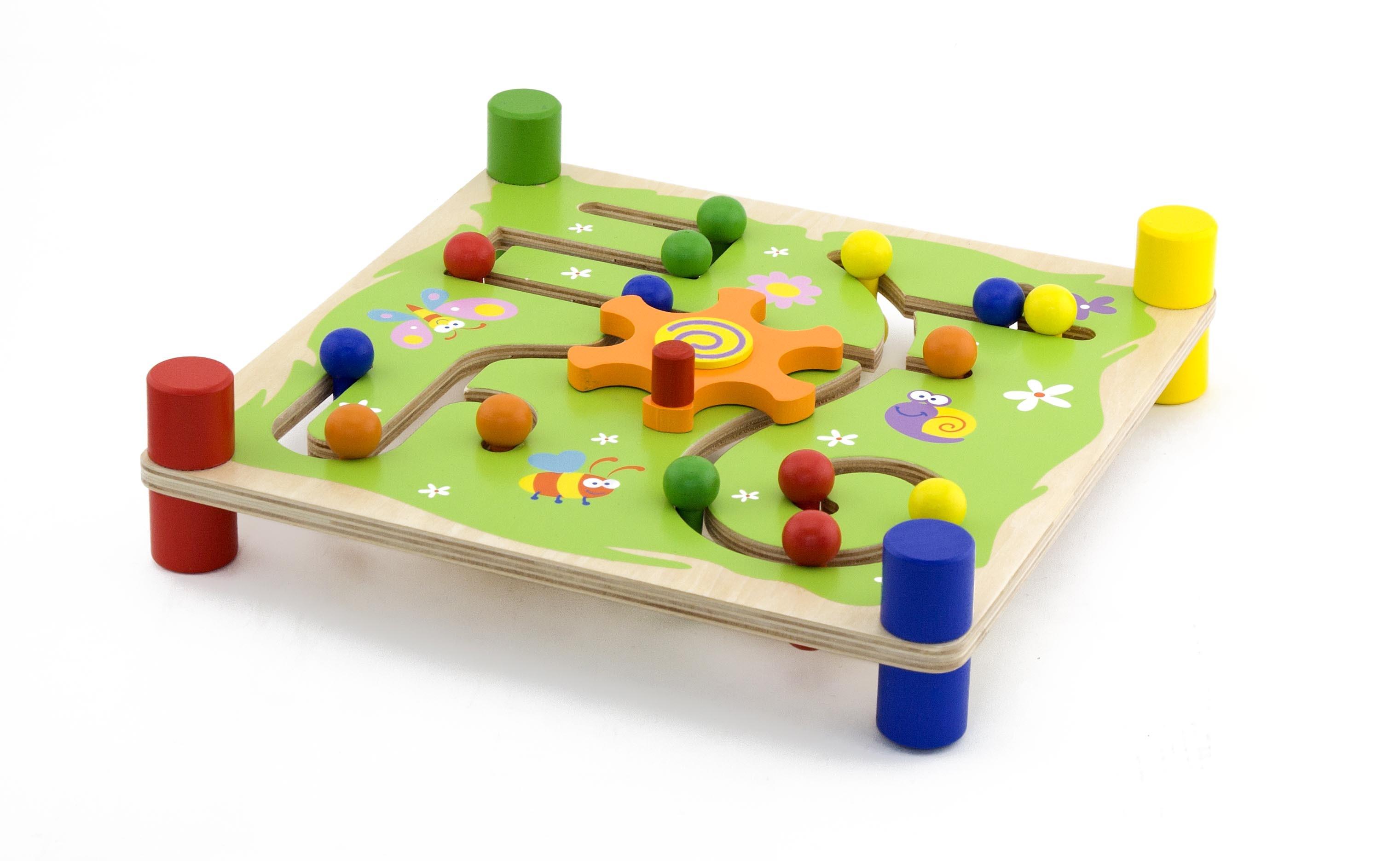 Образователна игра за проследяване - Трак- дървени образователни играчки от Viga toys(2)-bellamiestore