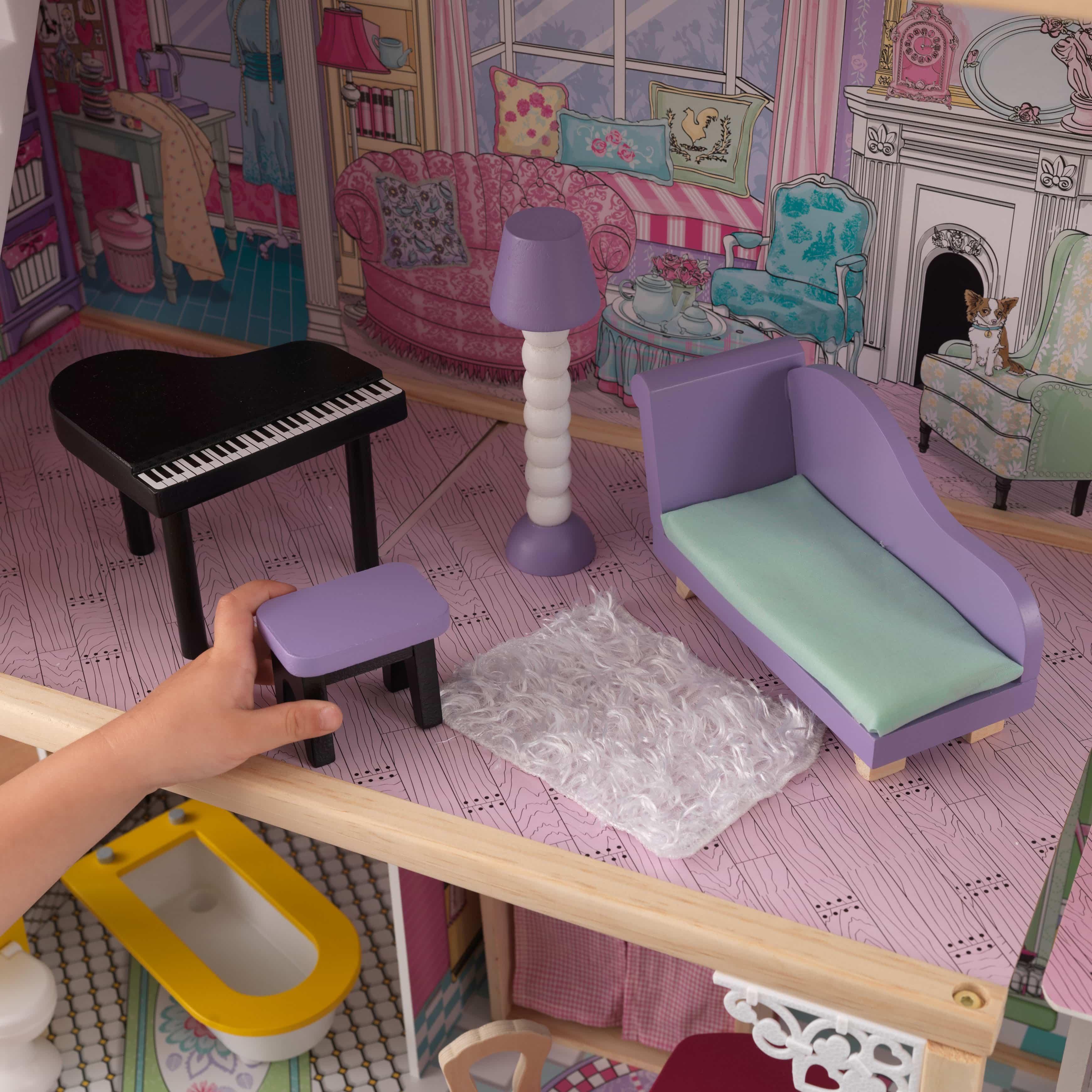 Детска дървена къща за кукли с обзавеждане Анна от Kidkaft - Магазин Bellamie
