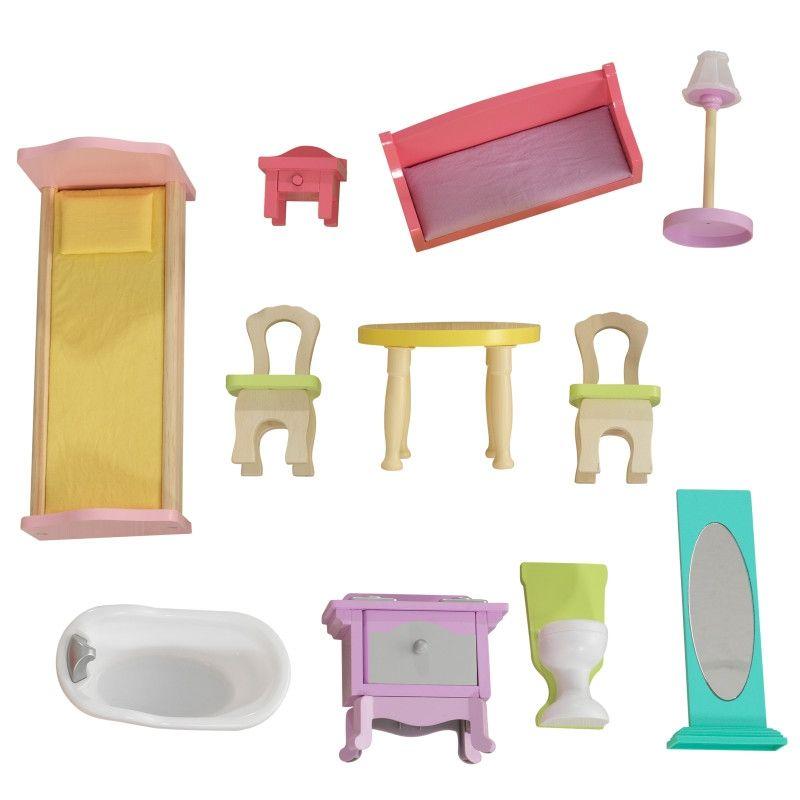 Красива дървена къща за кукли - Попи на Kidkraft- дървени ролеви играчки(2)-bellamiestore