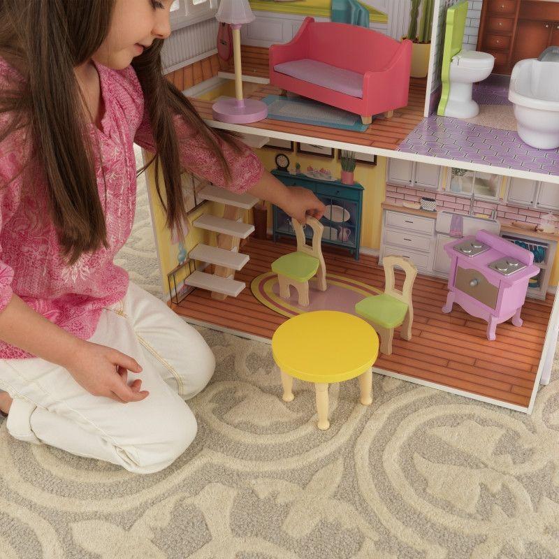Красива дървена къща за кукли - Попи на Kidkraft- дървени ролеви играчки(5)-bellamiestore