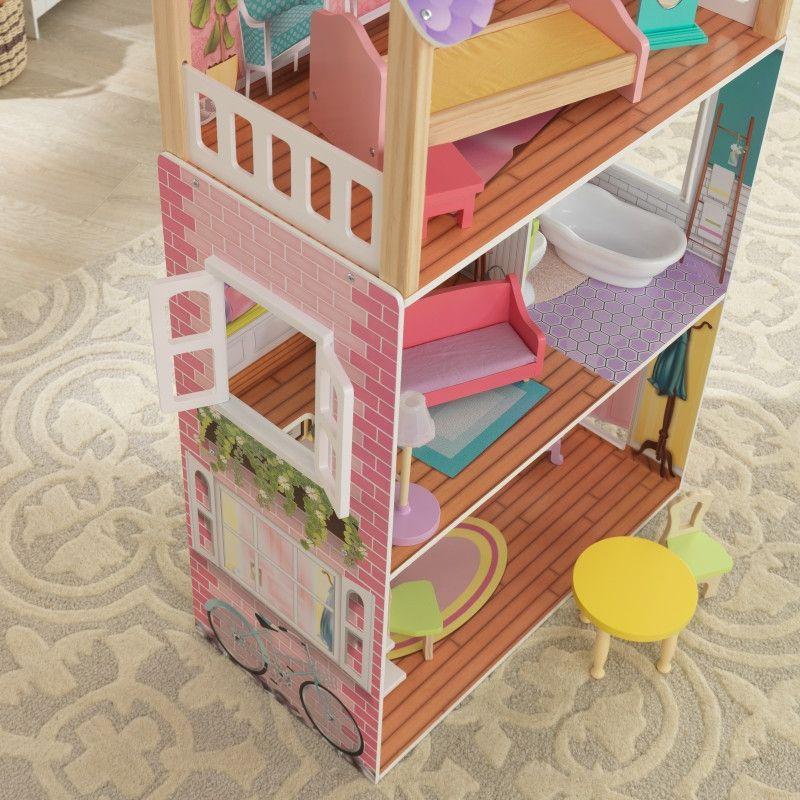 Красива дървена къща за кукли - Попи на Kidkraft- дървени ролеви играчки(6)-bellamiestore