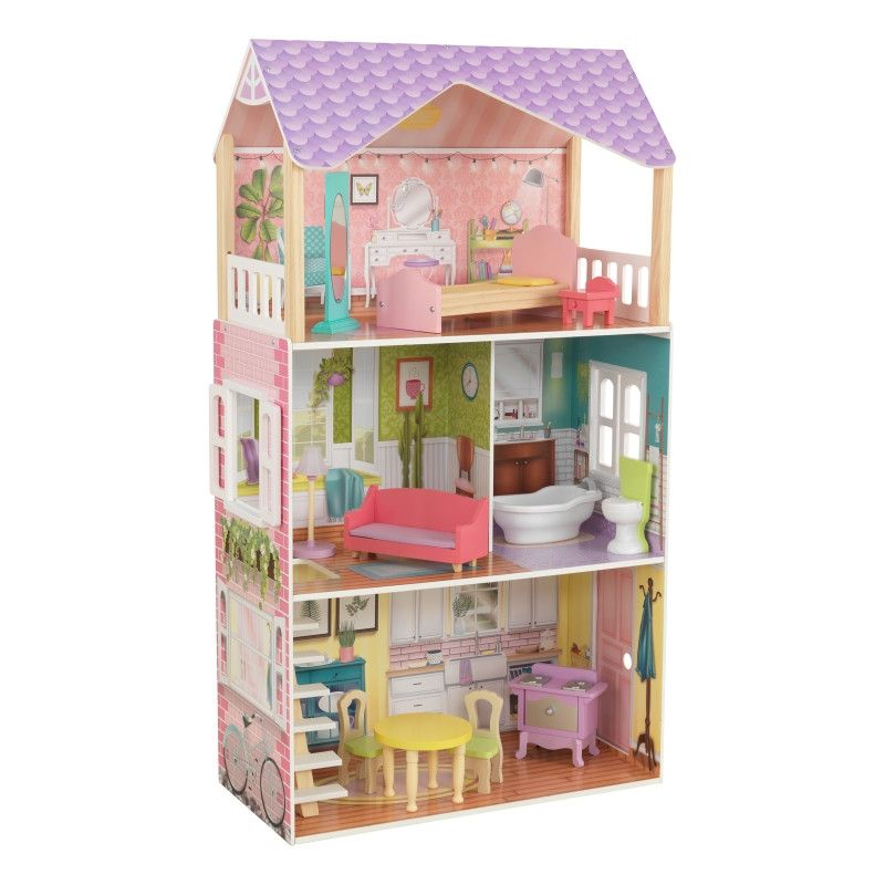 Красива дървена къща за кукли - Попи на Kidkraft- дървени ролеви играчки(7)-bellamiestore