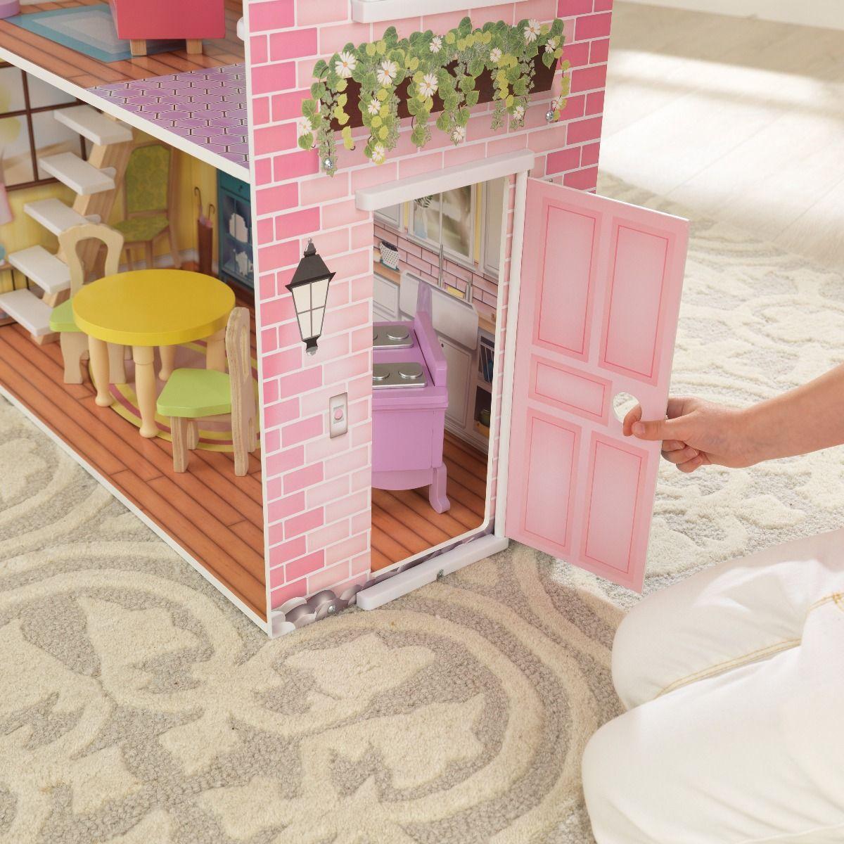 Красива дървена къща за кукли - Попи на Kidkraft- дървени ролеви играчки(8)-bellamiestore