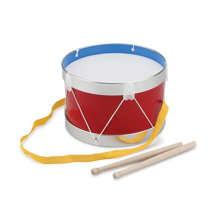 Детски барабан червен 22 см. диаметър- музикални инструменти подходящи за детски градини и училища-bellamie