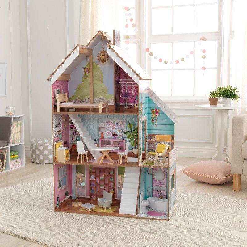 KidKraft дървена къща за кукли Жулиет-детски дървени играчки за момичета(11)-bellamiestore
