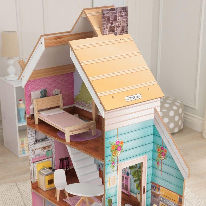 KidKraft дървена къща за кукли Жулиет-детски дървени играчки за момичета(2)-bellamiestore