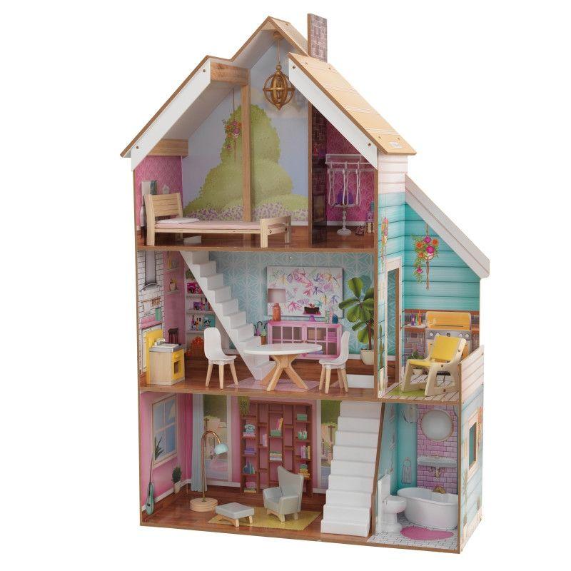KidKraft дървена къща за кукли Жулиет-детски дървени играчки за момичета(1)-bellamiestore