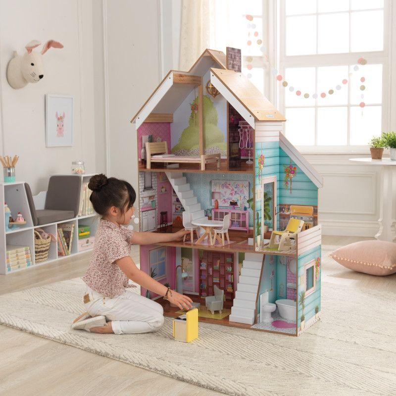 KidKraft дървена къща за кукли Жулиет-детски дървени играчки за момичета-bellamiestore