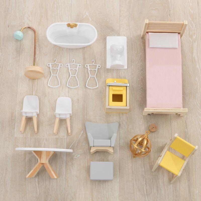 KidKraft дървена къща за кукли Жулиет-детски дървени играчки за момичета(10)-bellamiestore