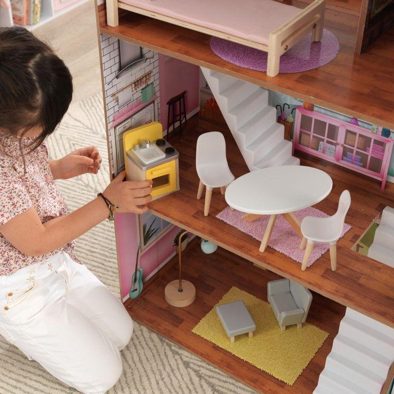 KidKraft дървена къща за кукли Жулиет-детски дървени играчки за момичета(9)-bellamiestore