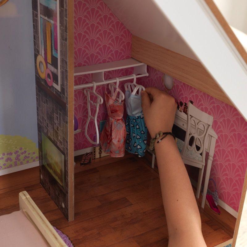KidKraft дървена къща за кукли Жулиет-детски дървени играчки за момичета(8)-bellamiestore